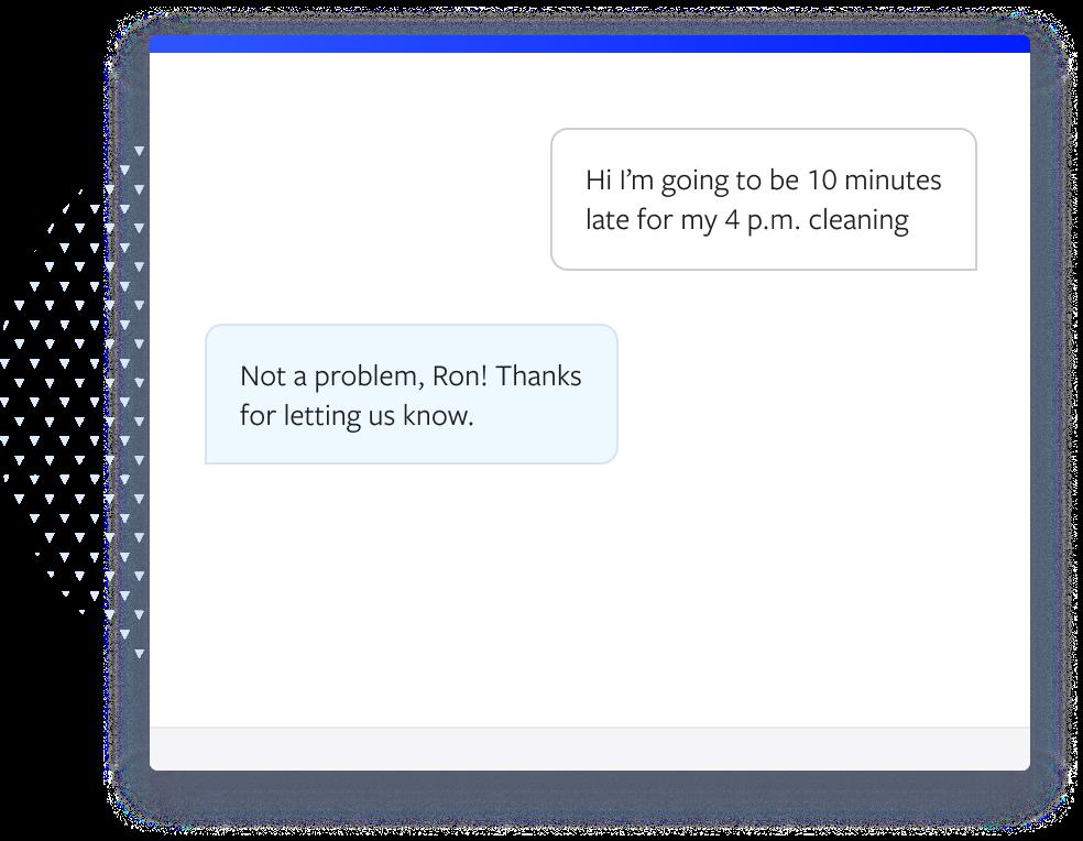 Example text conversation