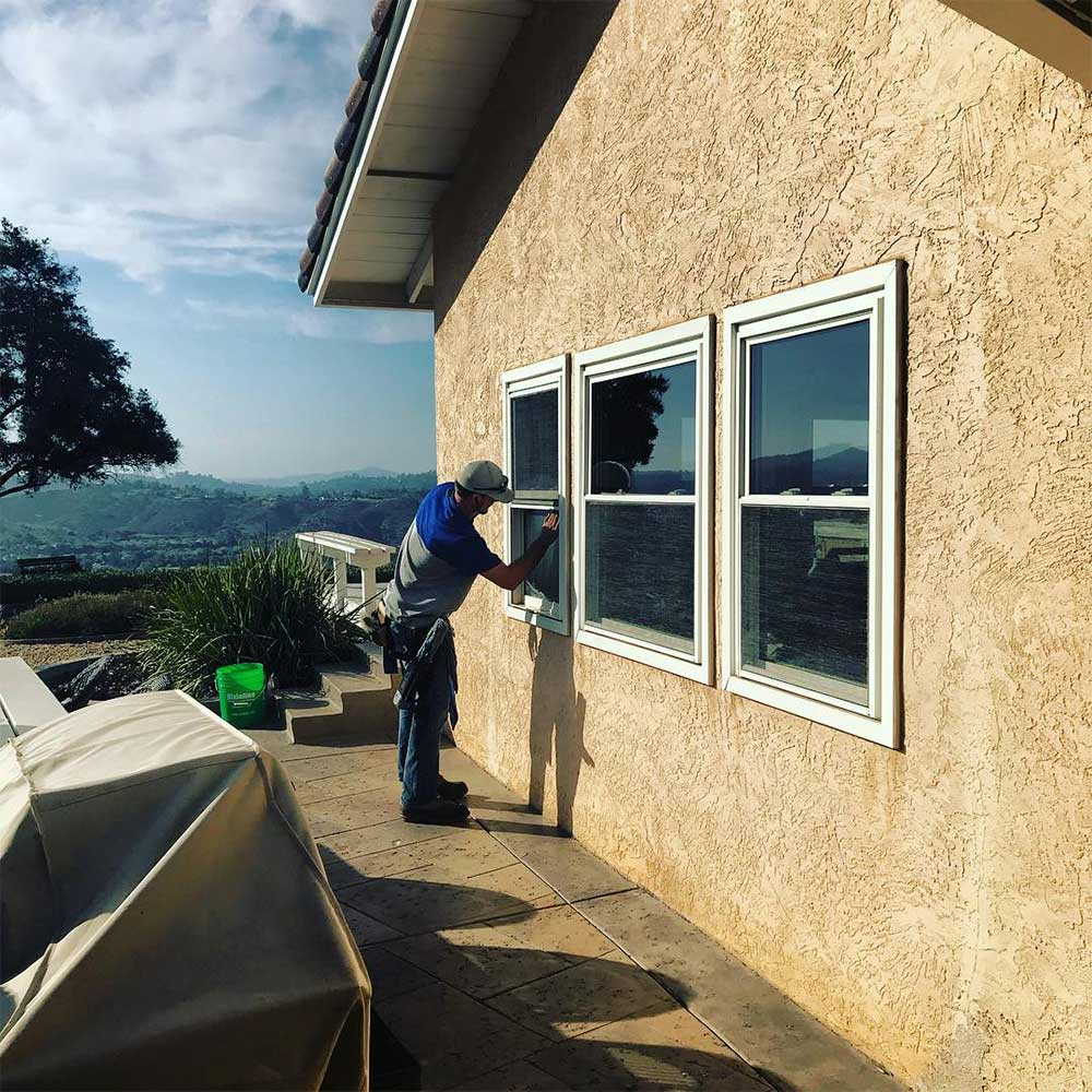 Residential window cleaning in San Diego