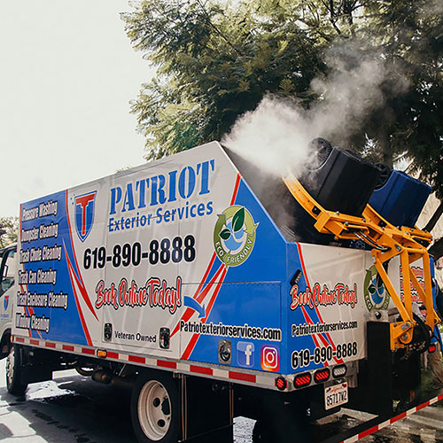patriot exterior services trash cleaning system