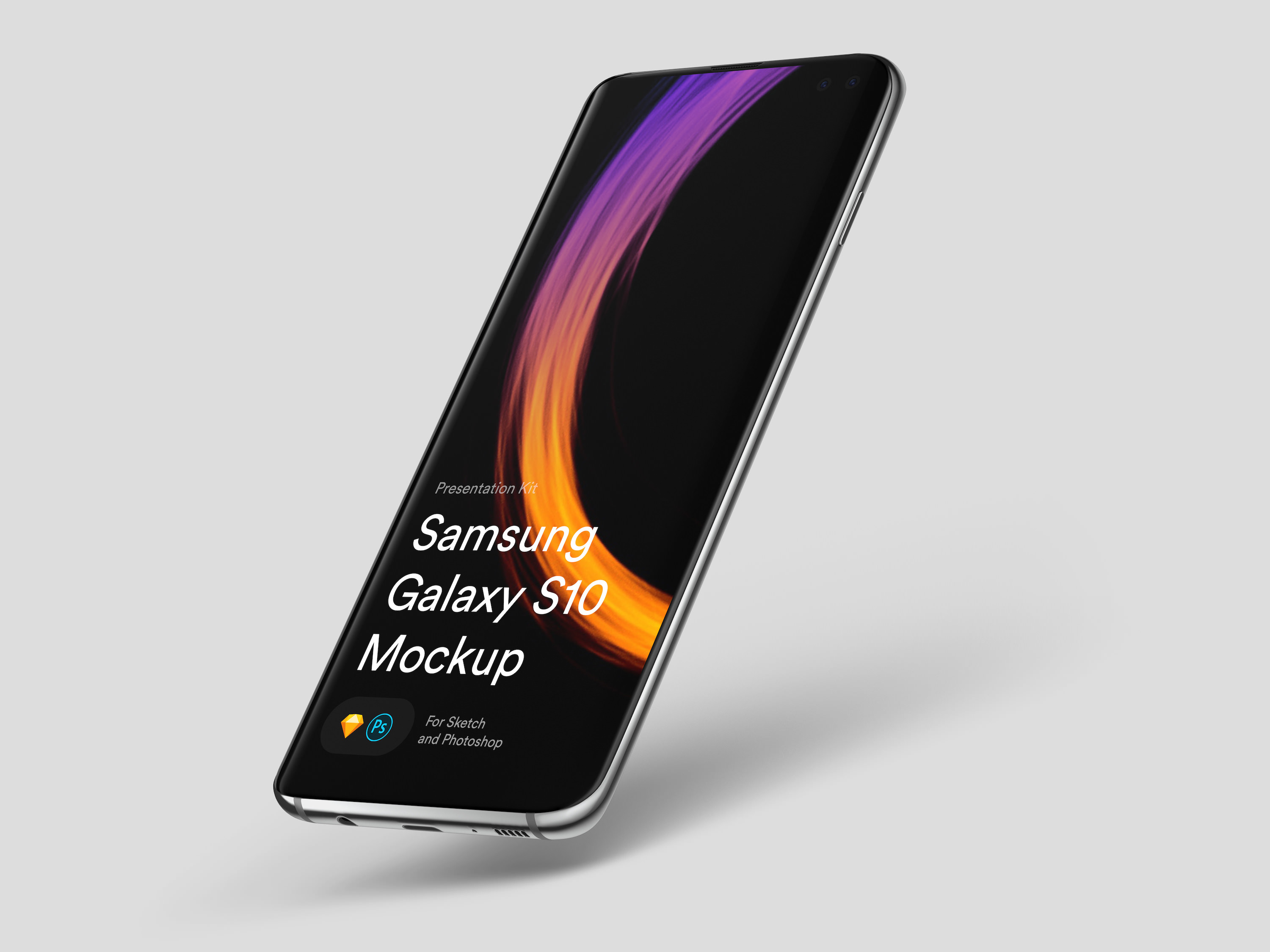 Download Samsung Galaxy S10 Mockup for Sketch and Photoshop