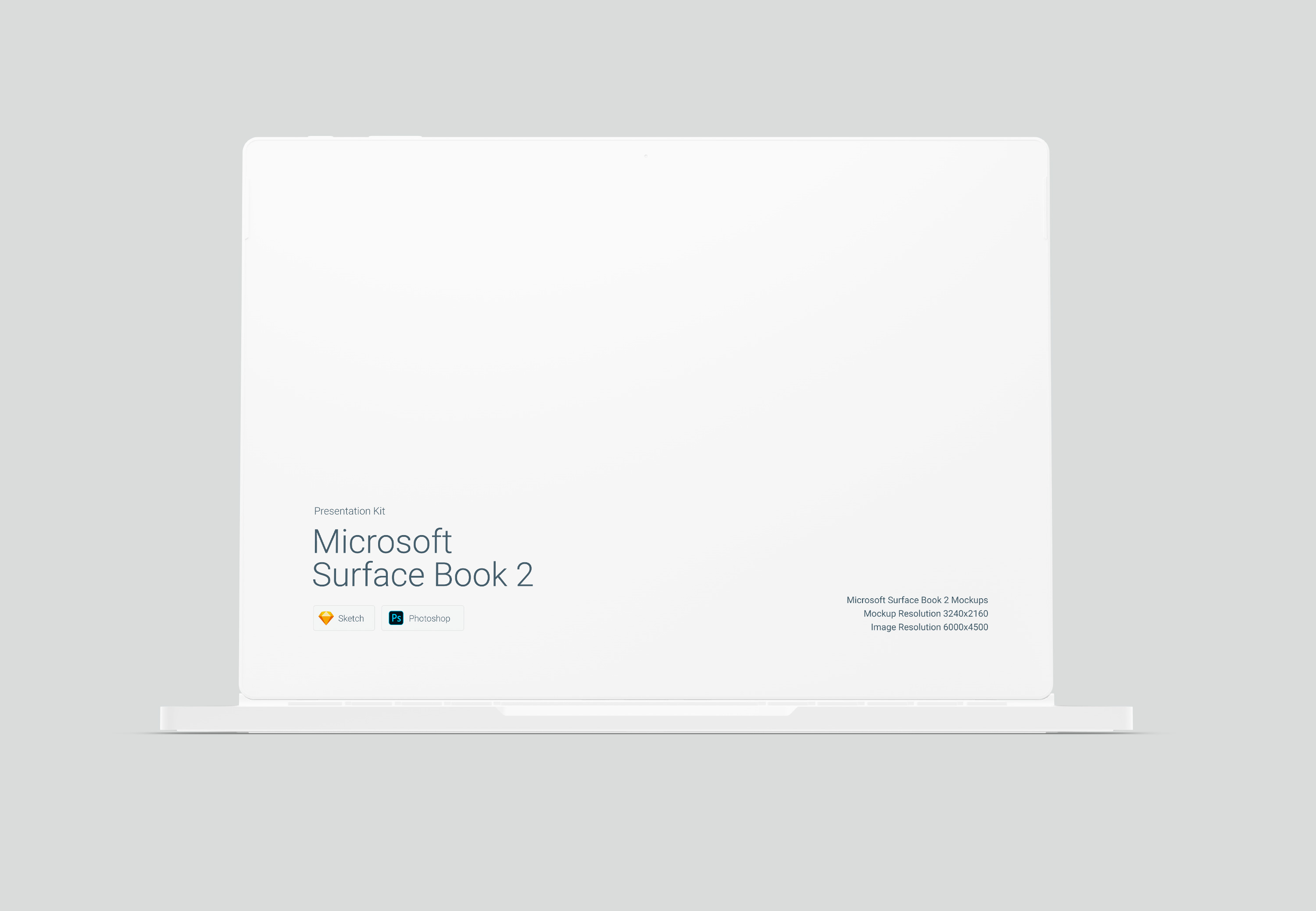 Download Microsoft Surface Book 2 Mockup for Sketch and Photoshop