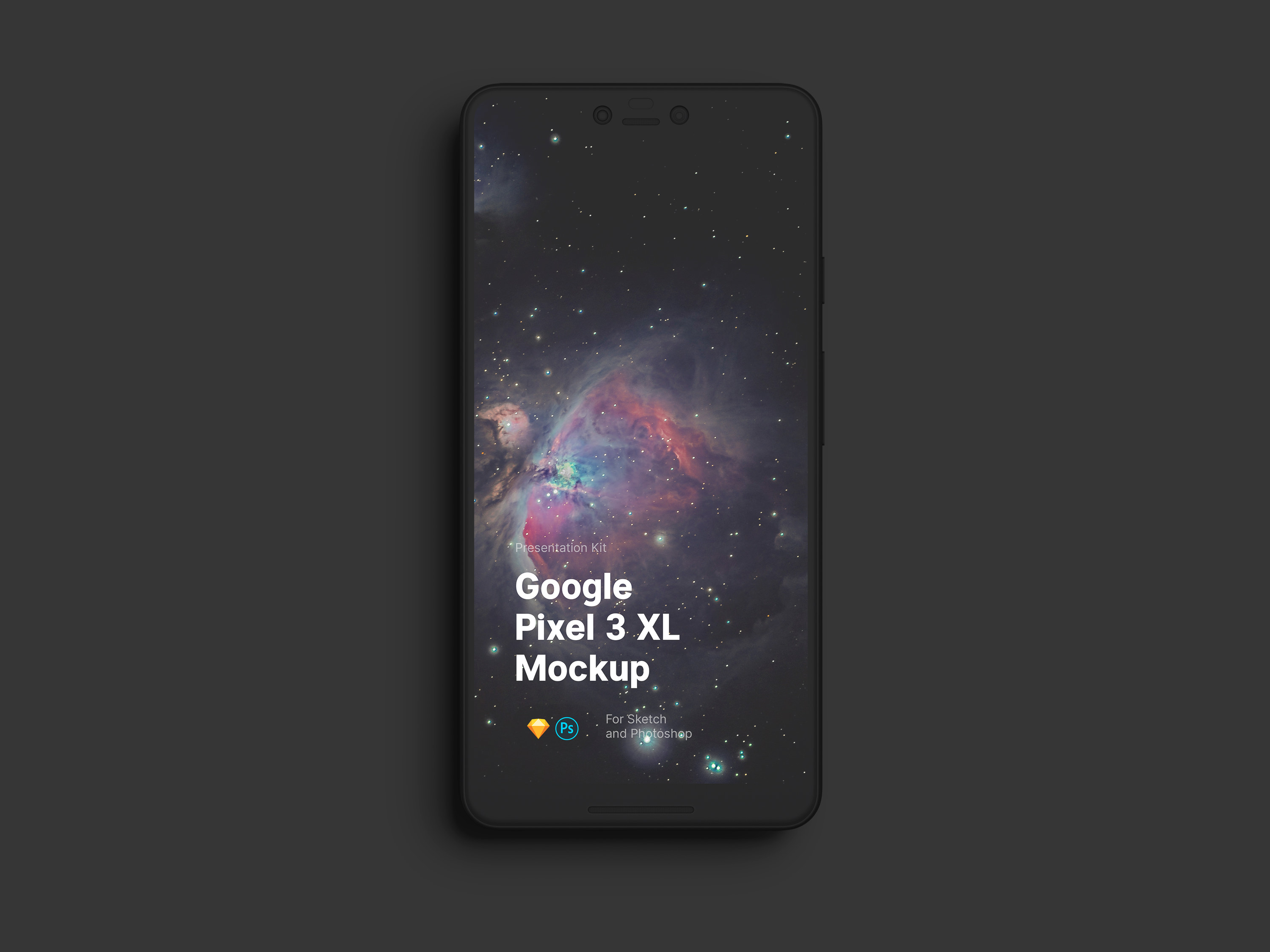 Download Google Pixel 3 XL or Sketch and Photoshop