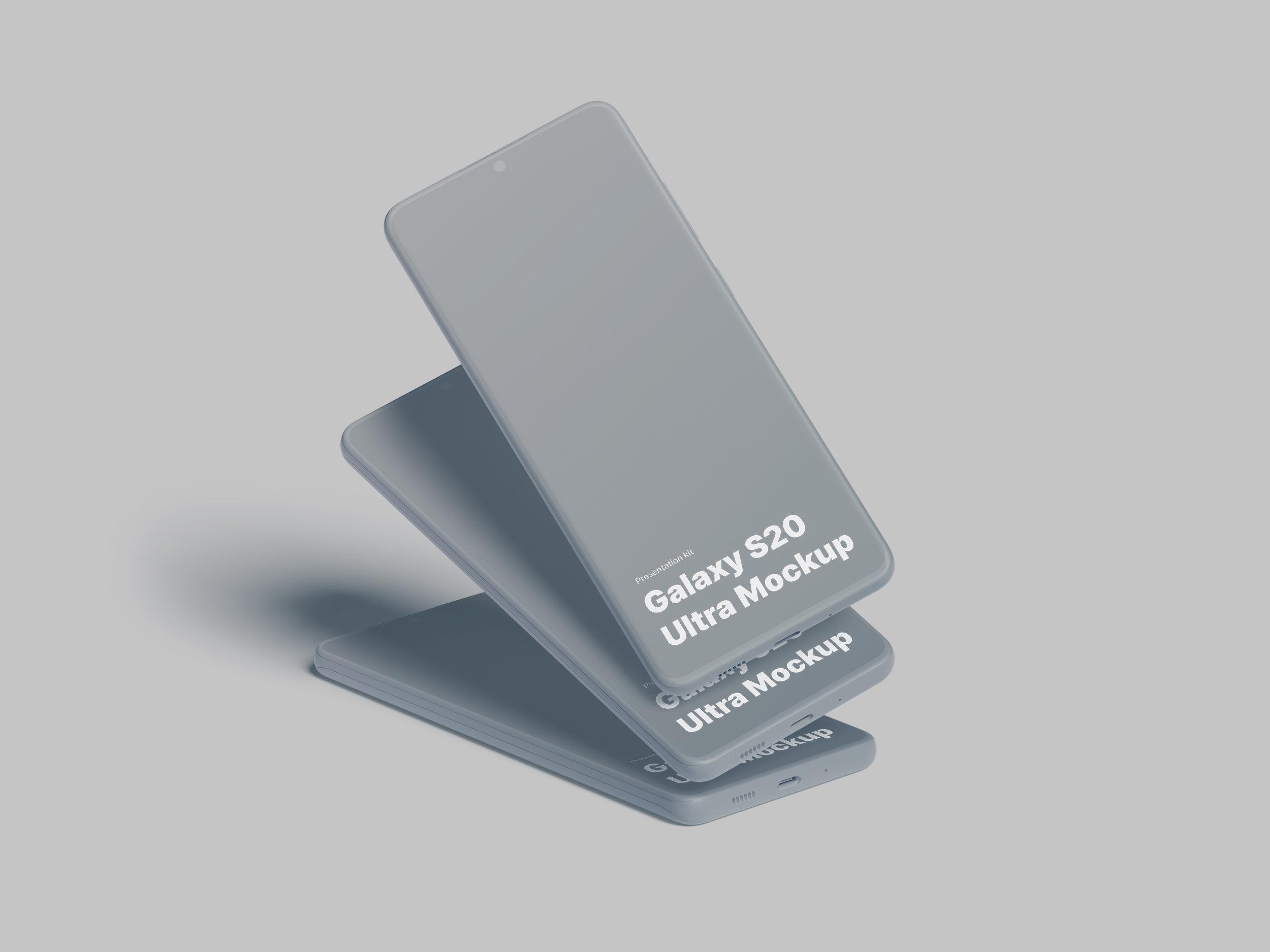 Samsung Galaxy S20 Mockups