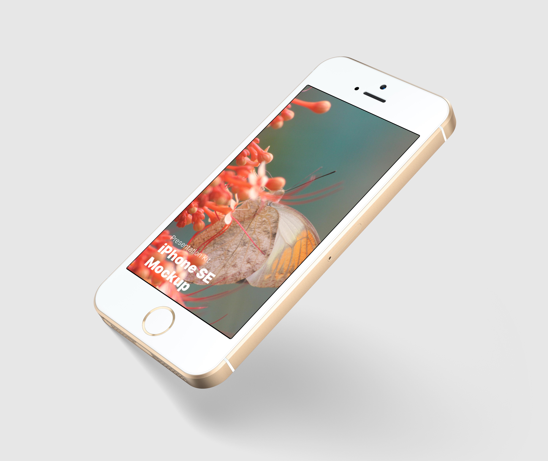 Download Apple iPhone SE Mockup for Sketch, Photoshop, Figma
