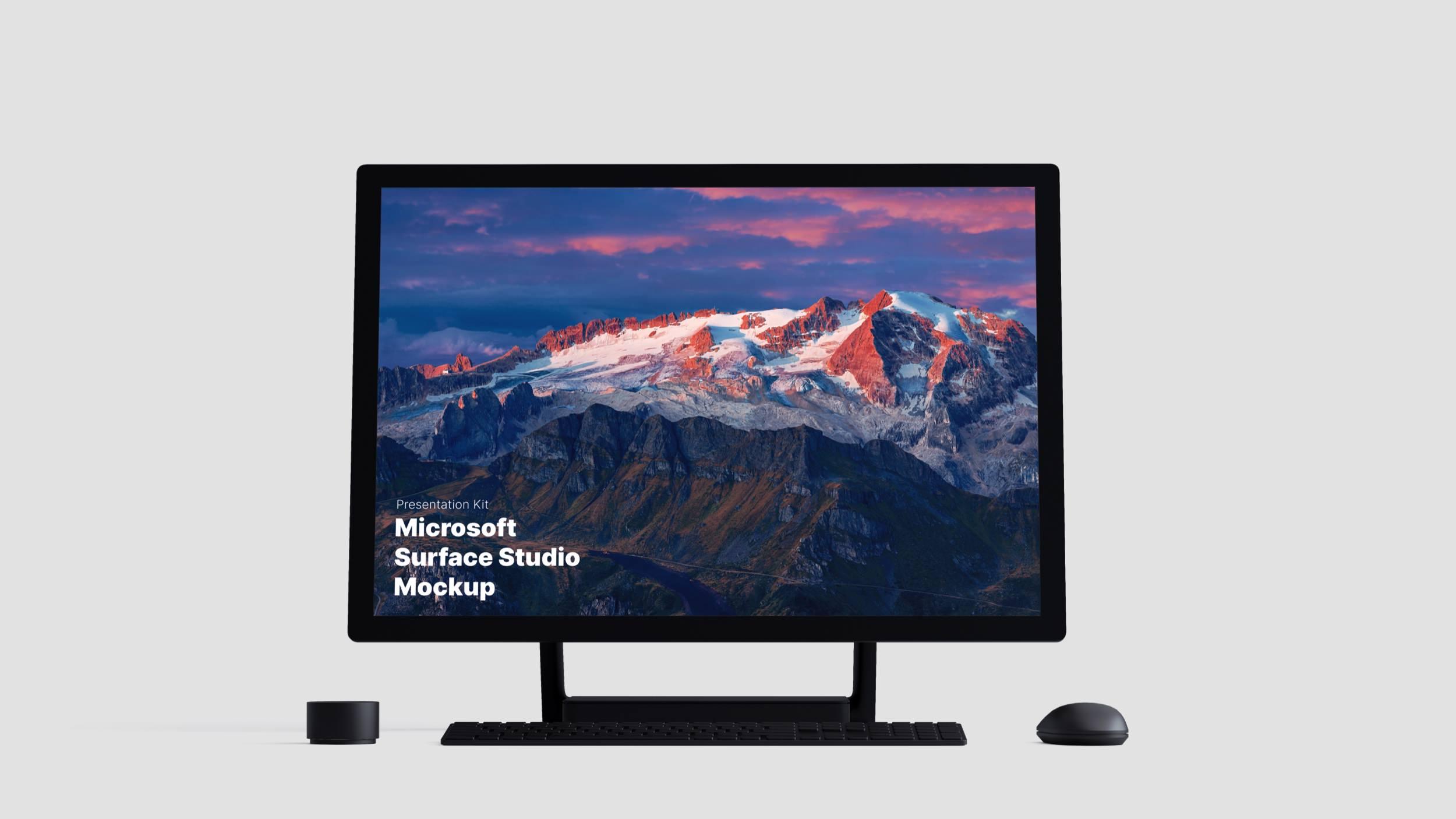 Surface Studio Mockups for Sketch, Photoshop, Figma