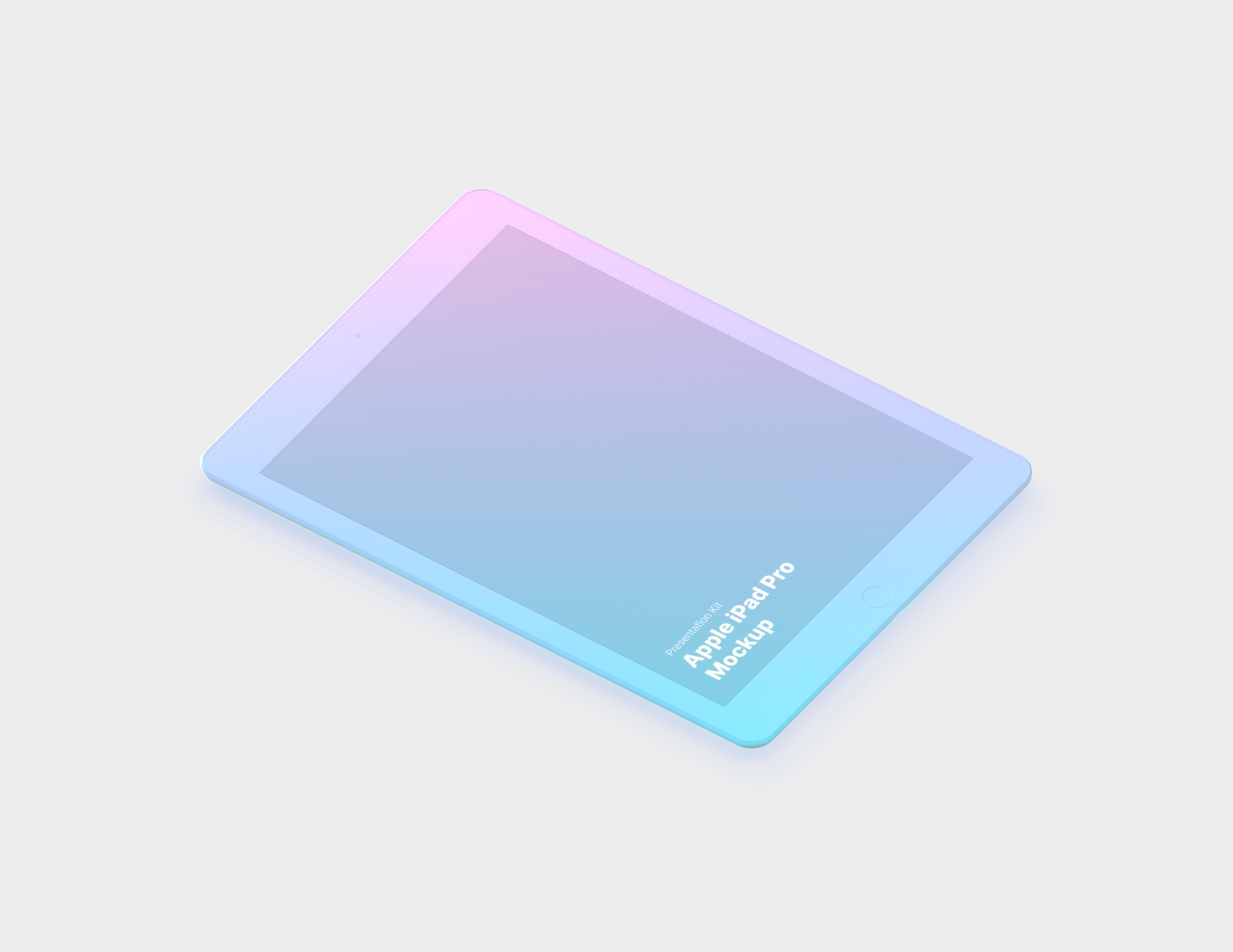 iPad Pro Mockup for Sketch, Photoshop, Figma
