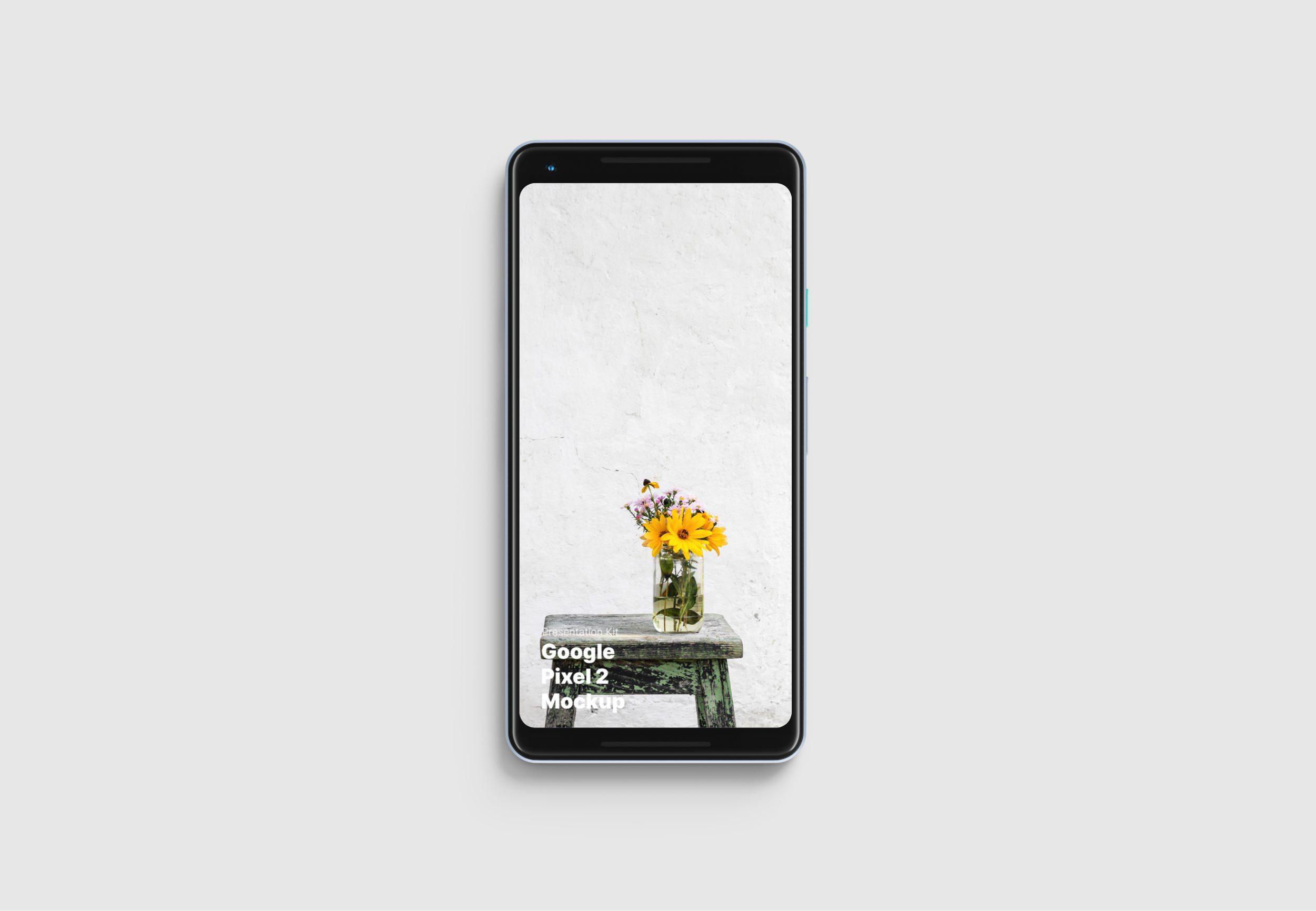 Google Pixel 2 Mockup for Sketch, Photoshop, Figma