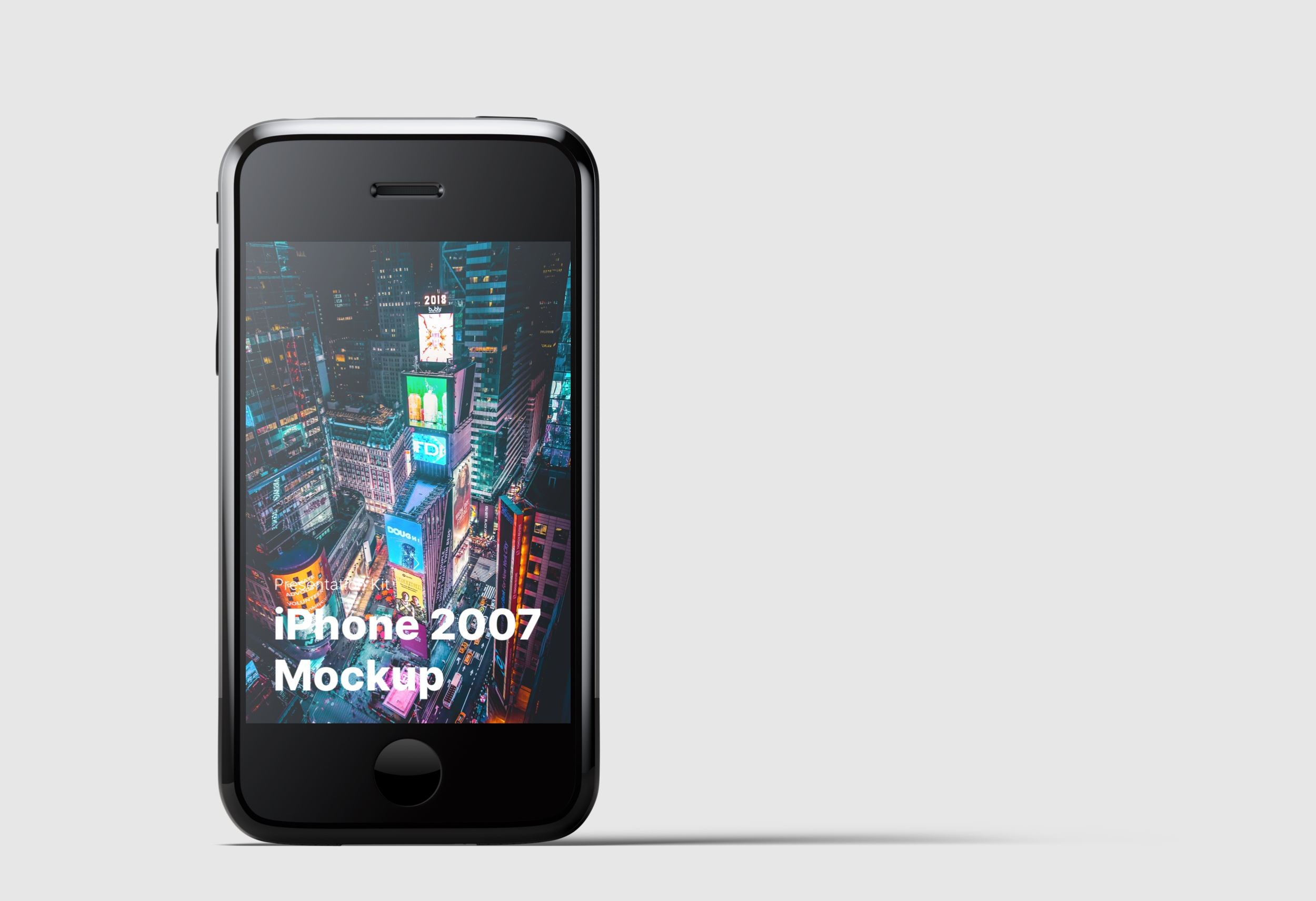 iPhone 2007 Mockups for Sketch,  Photoshop, Figma.