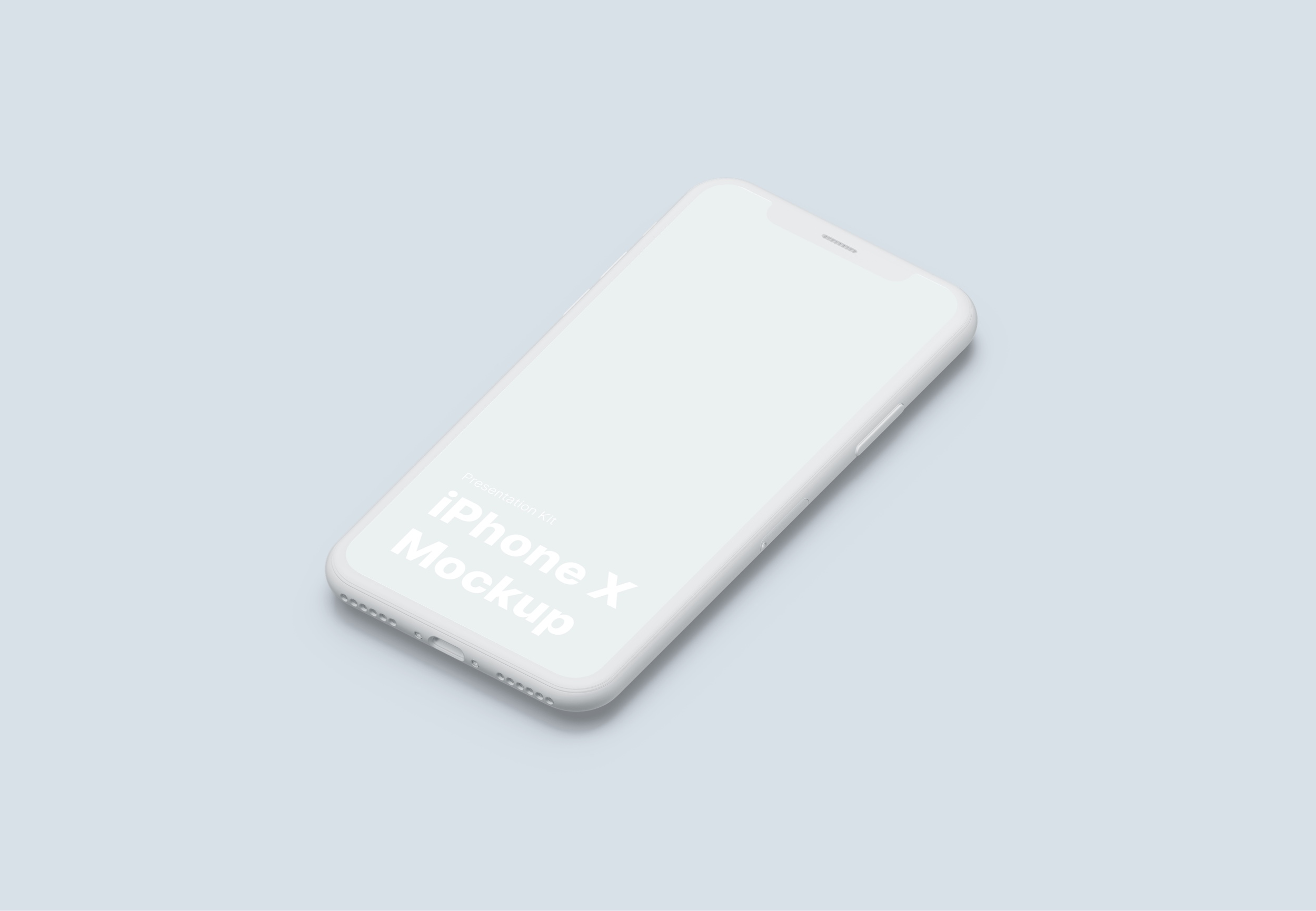 iPhone X Mockup for Sketch, Photoshop, Figma.