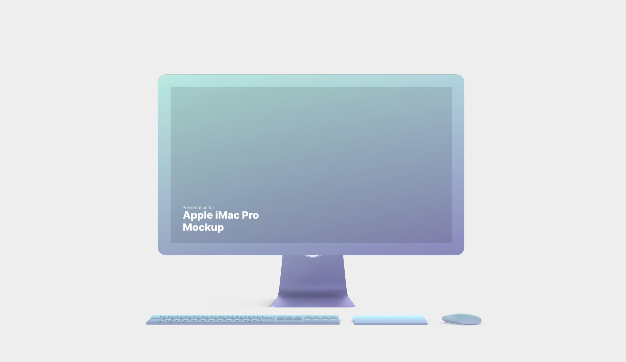iMac Pro Mockup for Sketch, Photoshop, Figma
