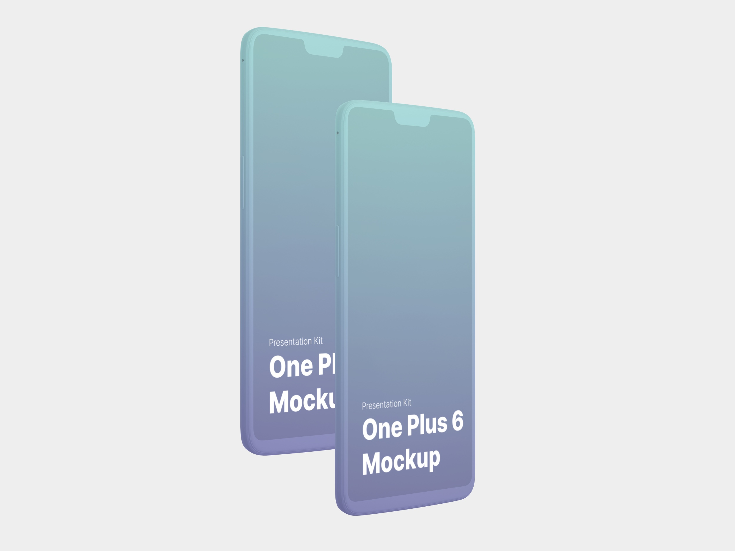 OnePlus 6 Mockups for Sketch, Photoshop, Figma.