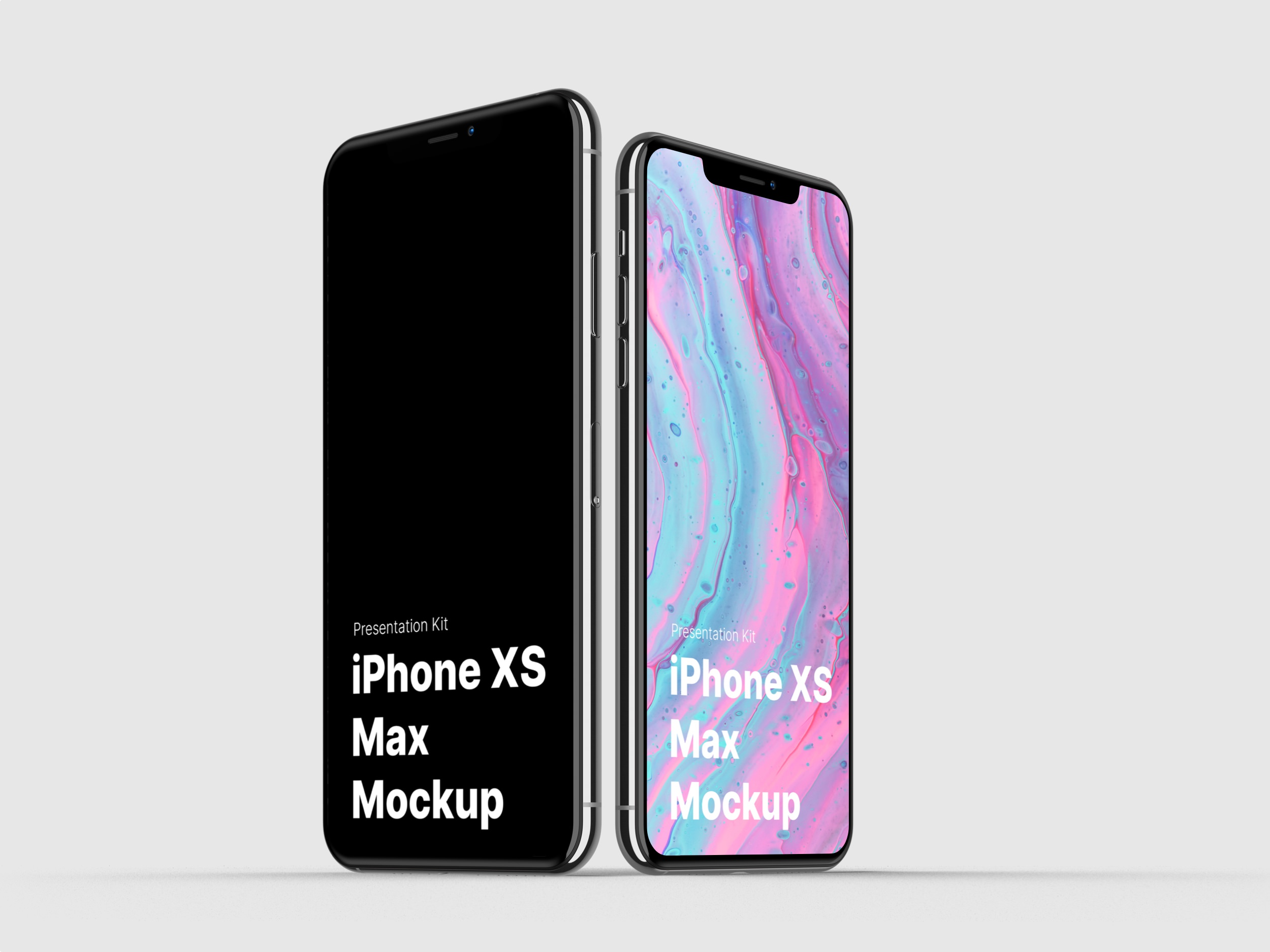 iPhone XS Max Mockups for Sketch, Photoshop, Figma.