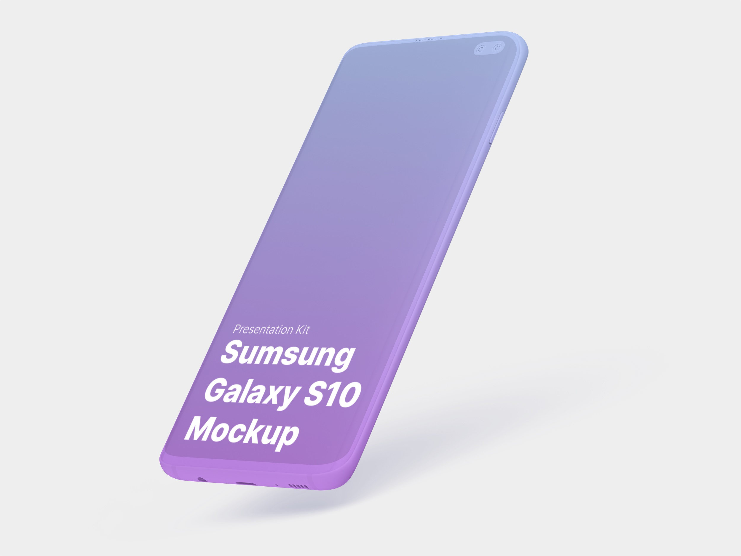 Samsung Galaxy S10 Mockup for Sketch,  Photoshop, Figma.