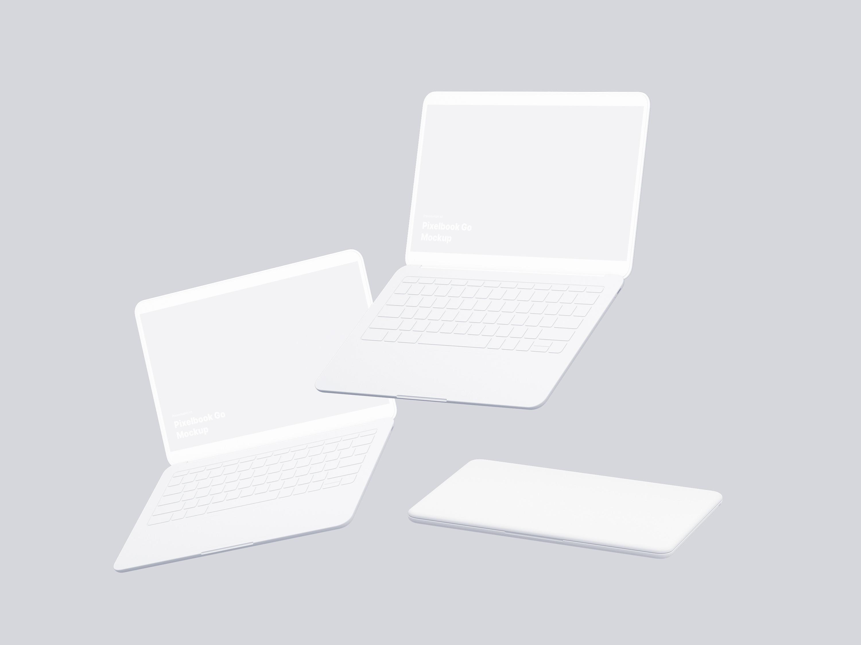 Google PixelBook Go Mockups