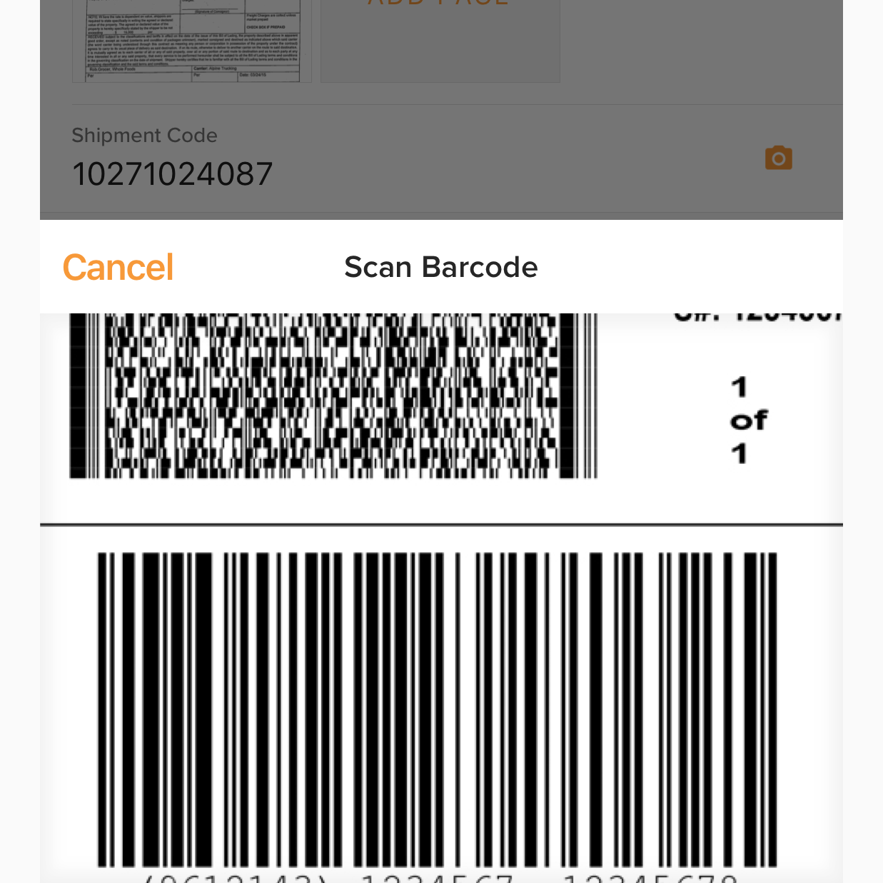 barcode QR code scanning