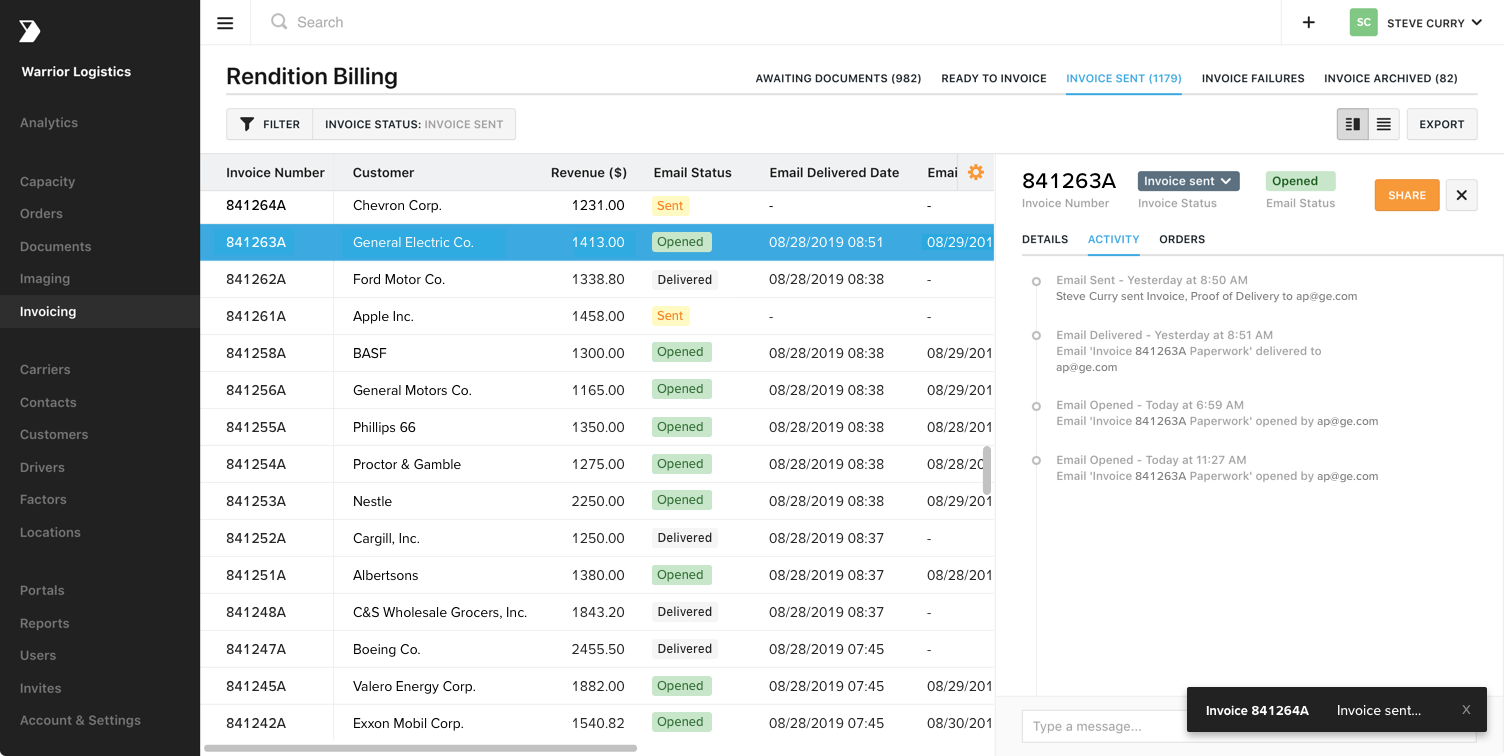 automate freight billing