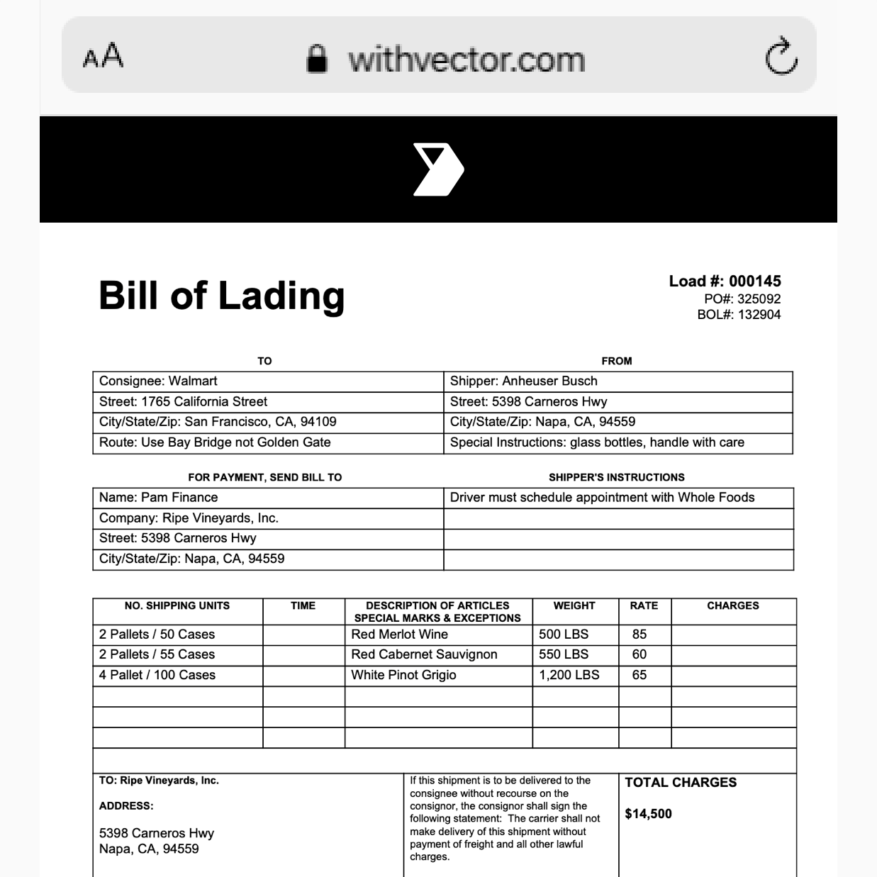 digital Bill of lading