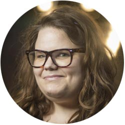 A portrait of Danielle Russell, Head of Product at Kountable