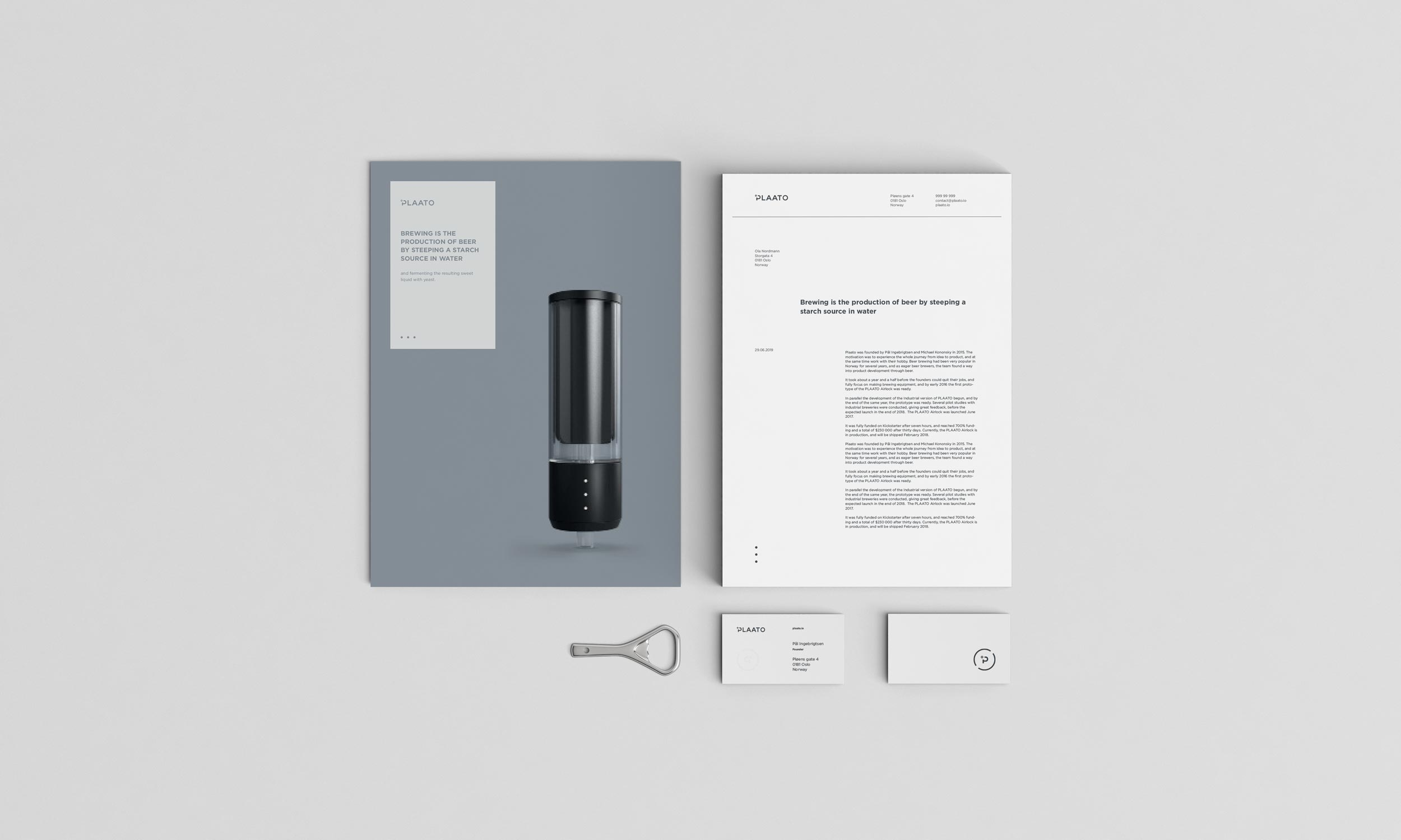 Plaato visual identity, designed by SBDS