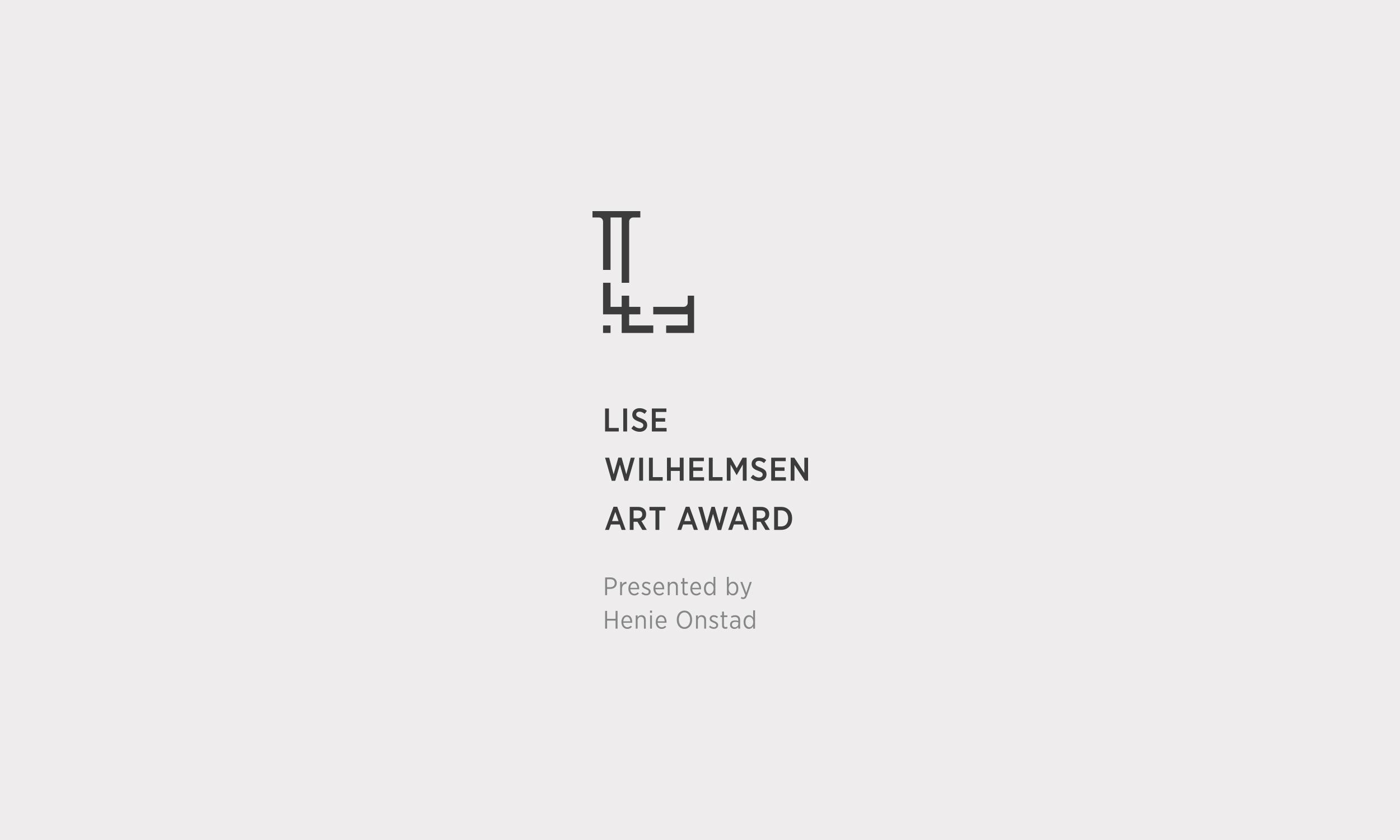 Lise Wilhelmsen Art Award dark vertical Logo, with Henie Onstad