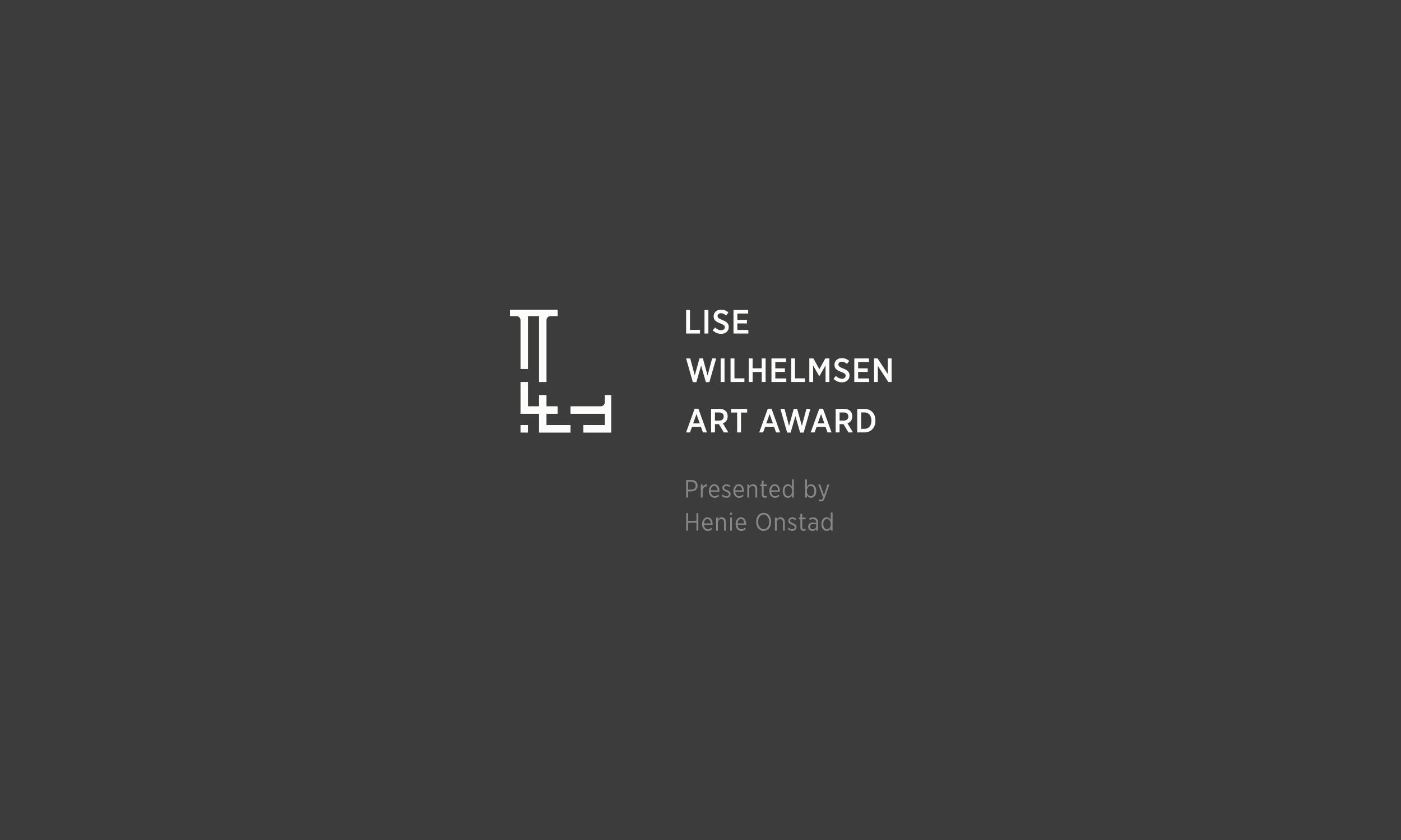 Lise Wilhelmsen Art Award light horizontal Logo, with Henie Onstad