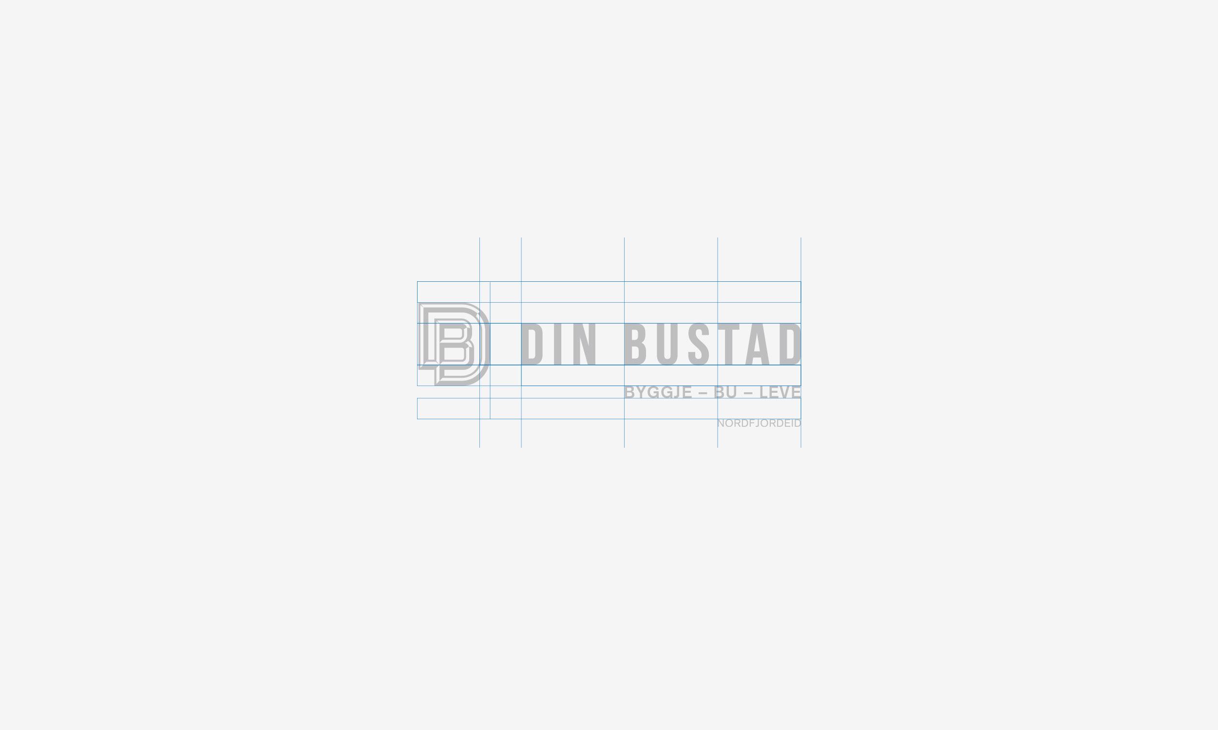 Din Bustad horizontal logo construction