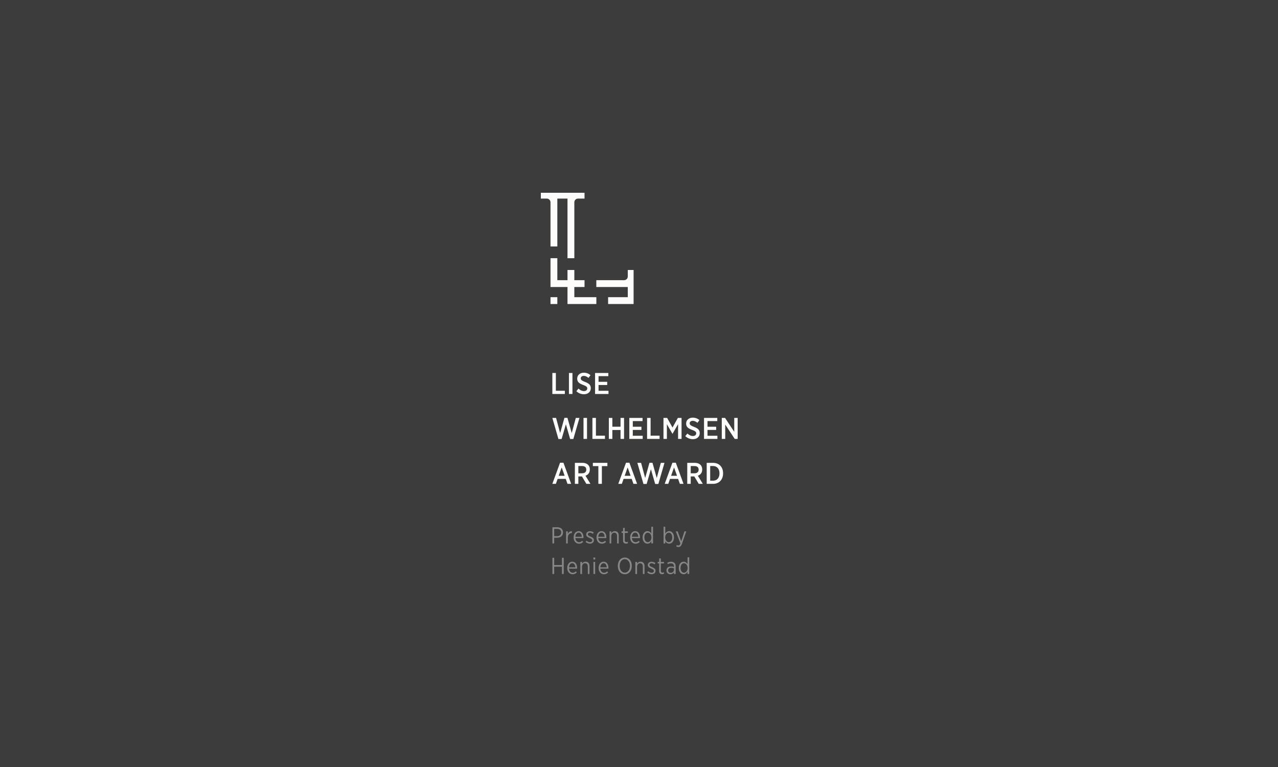 Lise Wilhelmsen Art Award light vertical Logo, with Henie Onstad