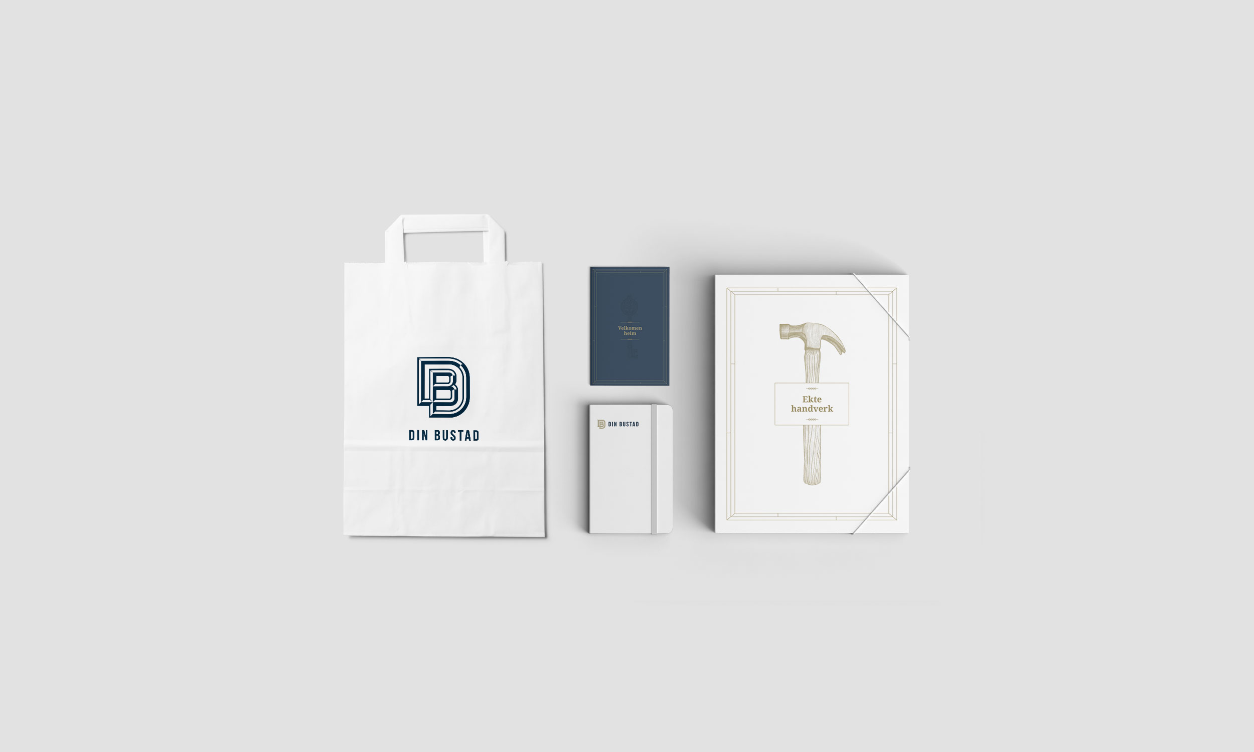 Din Bustad Brand element, designed by SBDS