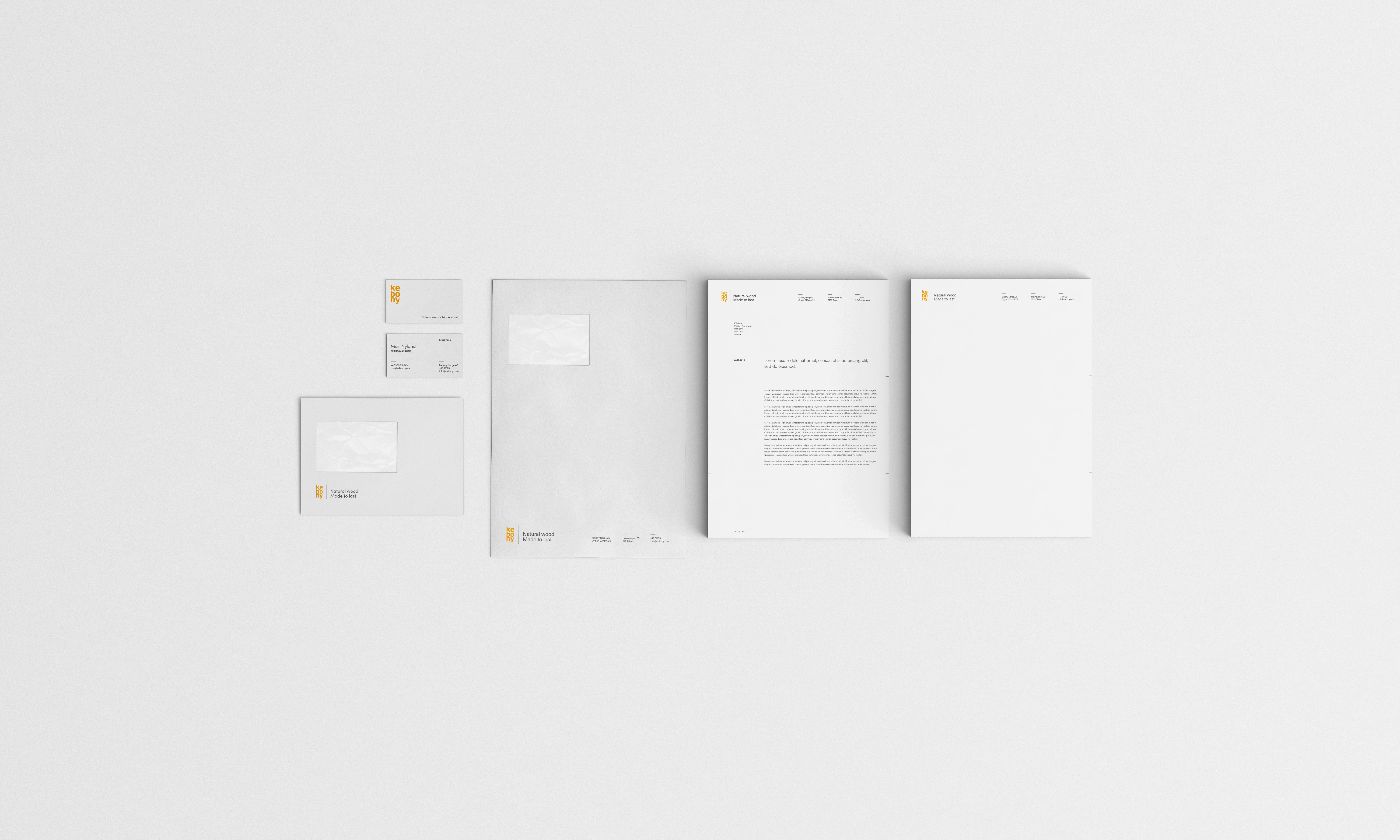 Kebony brand identity design by SBDS