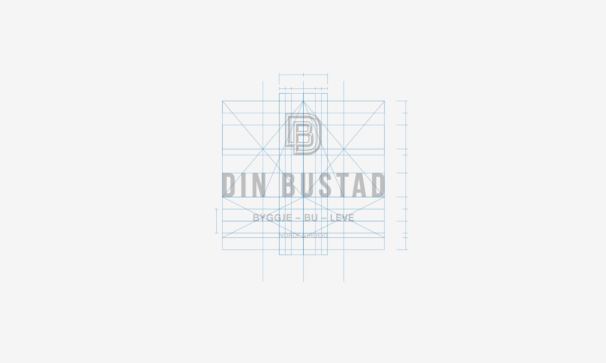 Din Bustad vertical logo construction