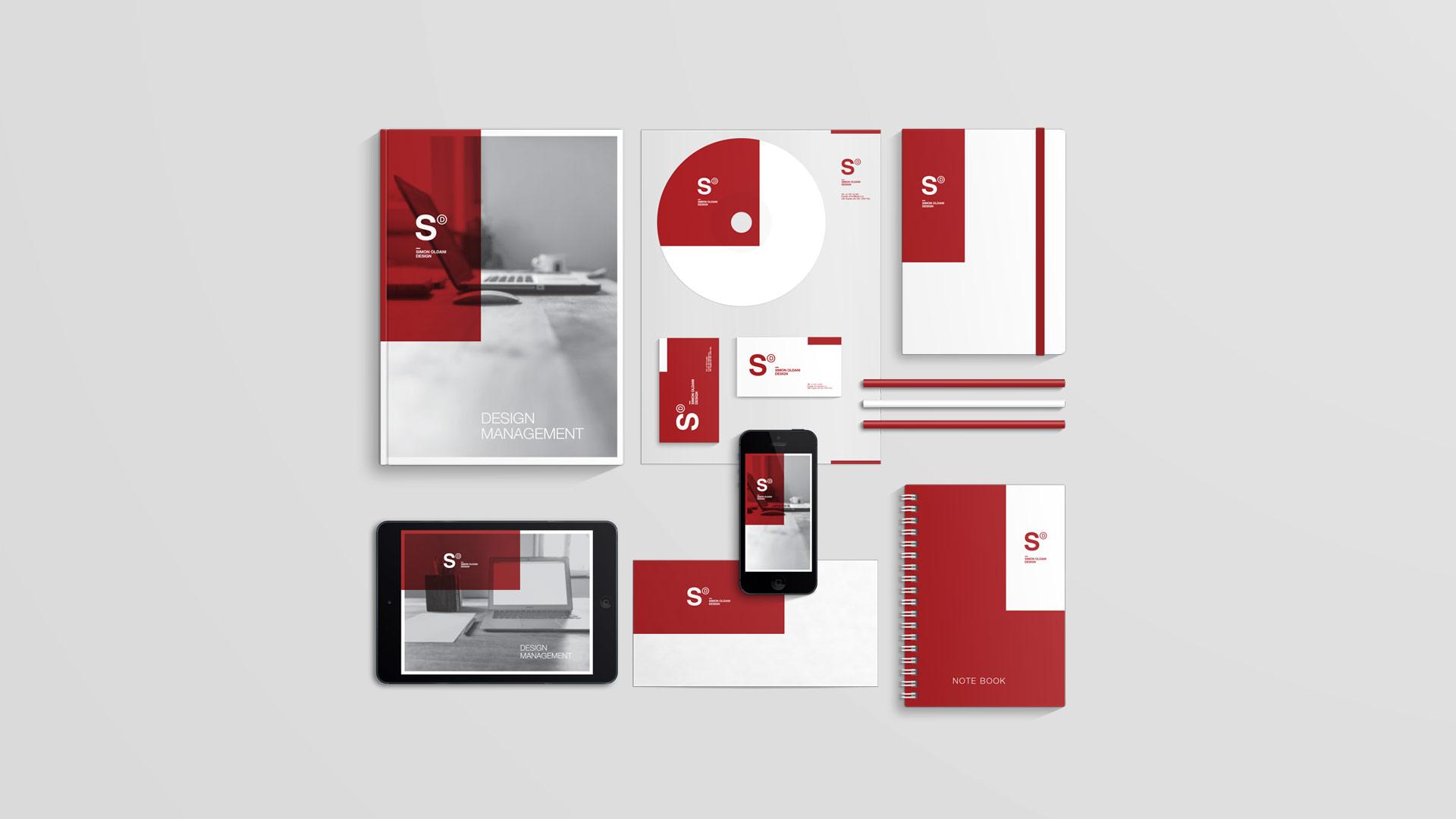 Simon Oldani Design visual identity, design by SBDS