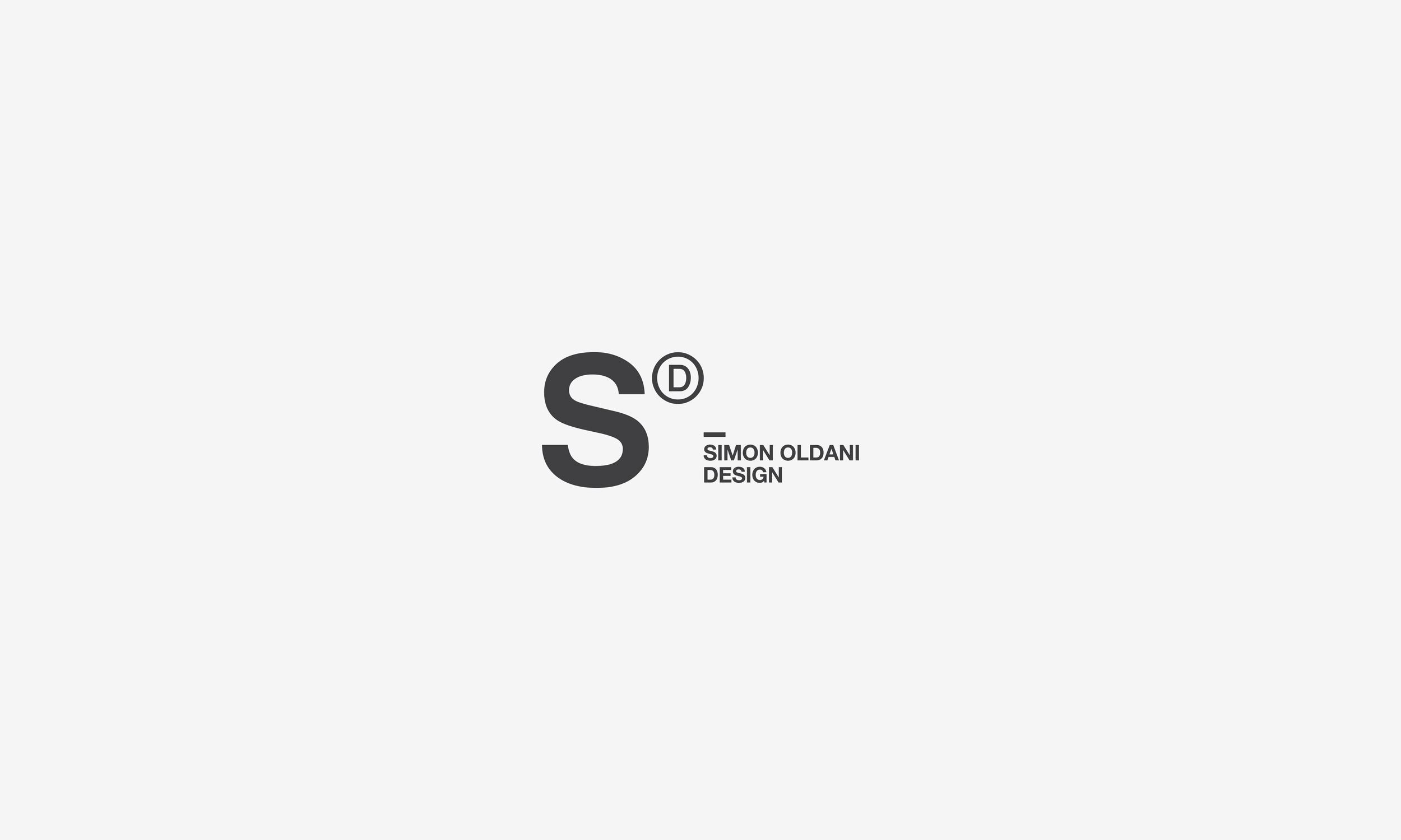 Simon Oldani Design logo horizontal design by SBDS