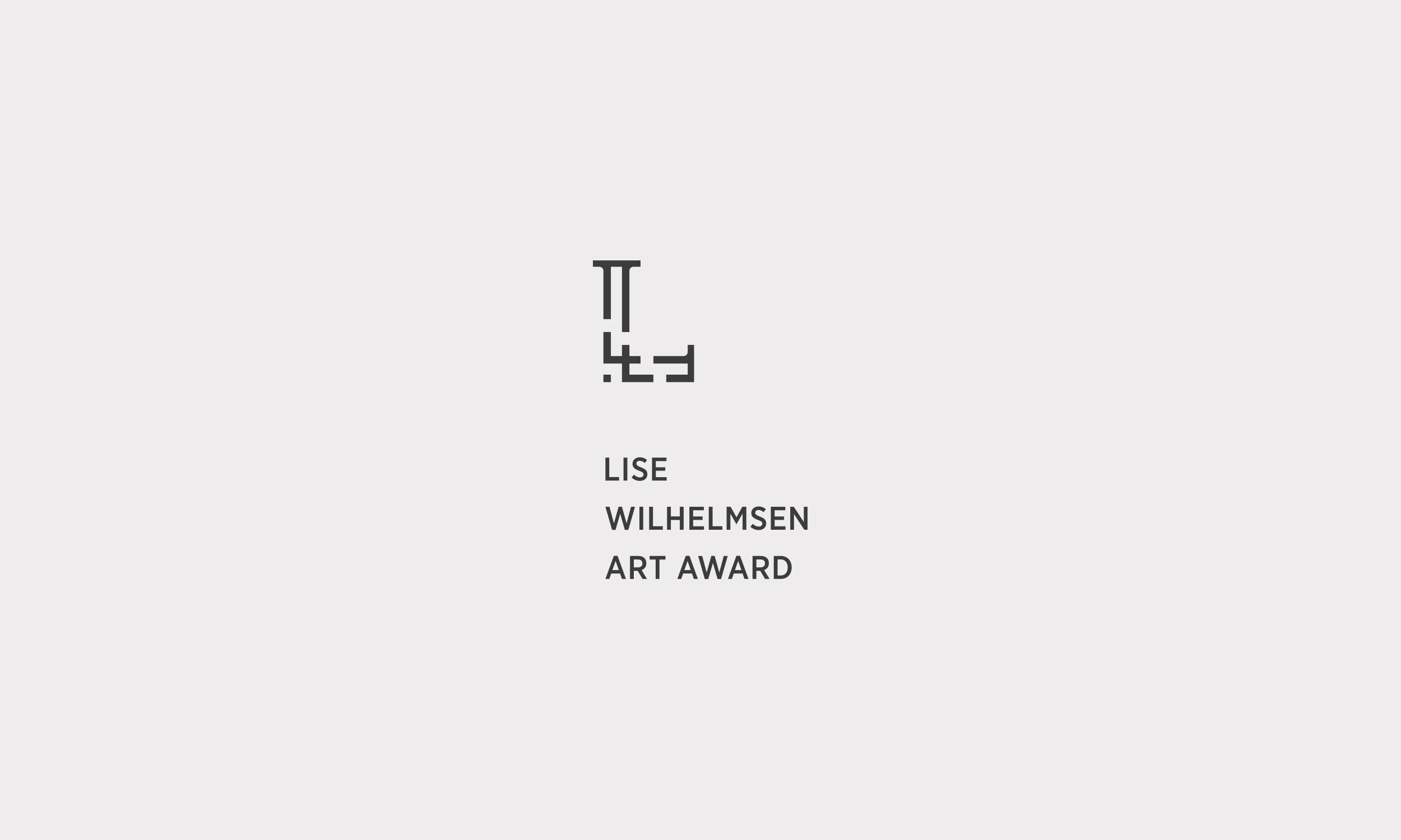 Lise Wilhelmsen Art Award dark vertical Logo, design by SBDS