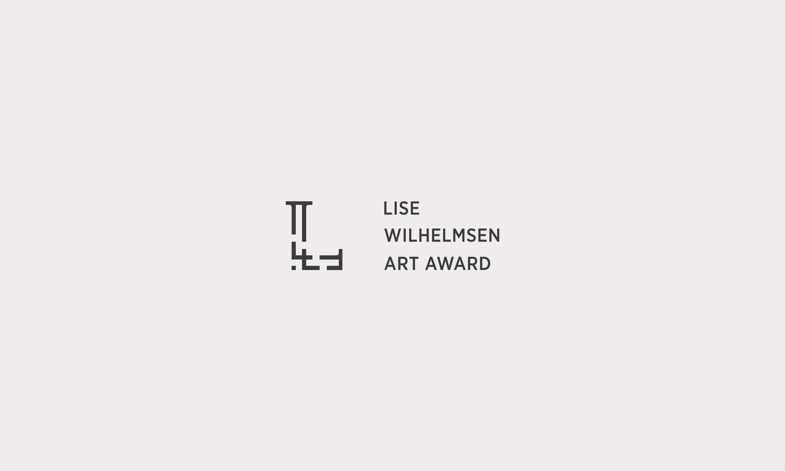 Lise Wilhelmsen Art Award dark horizontal Logo, design by SBDS