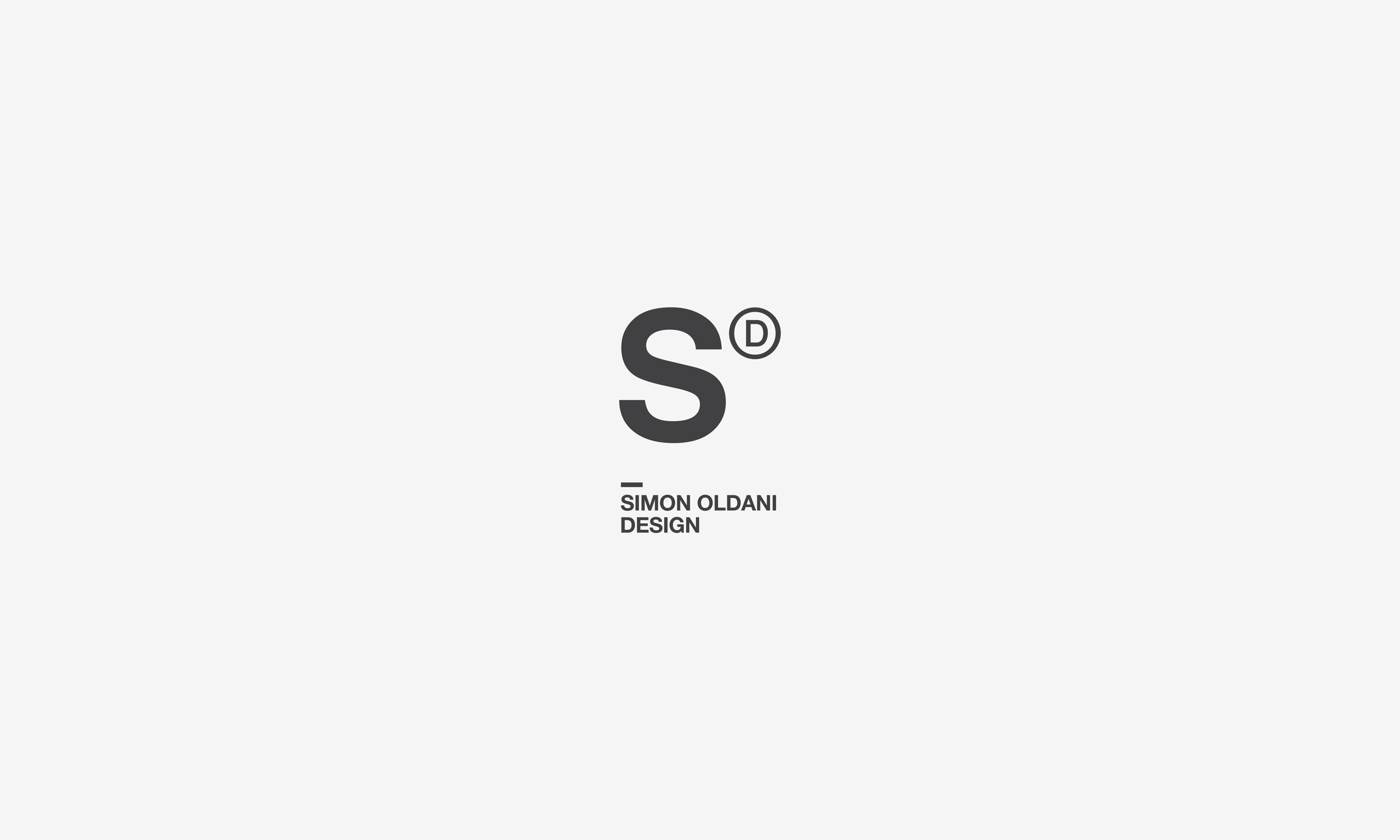 Simon Oldani Design logo vertical design by SBDS