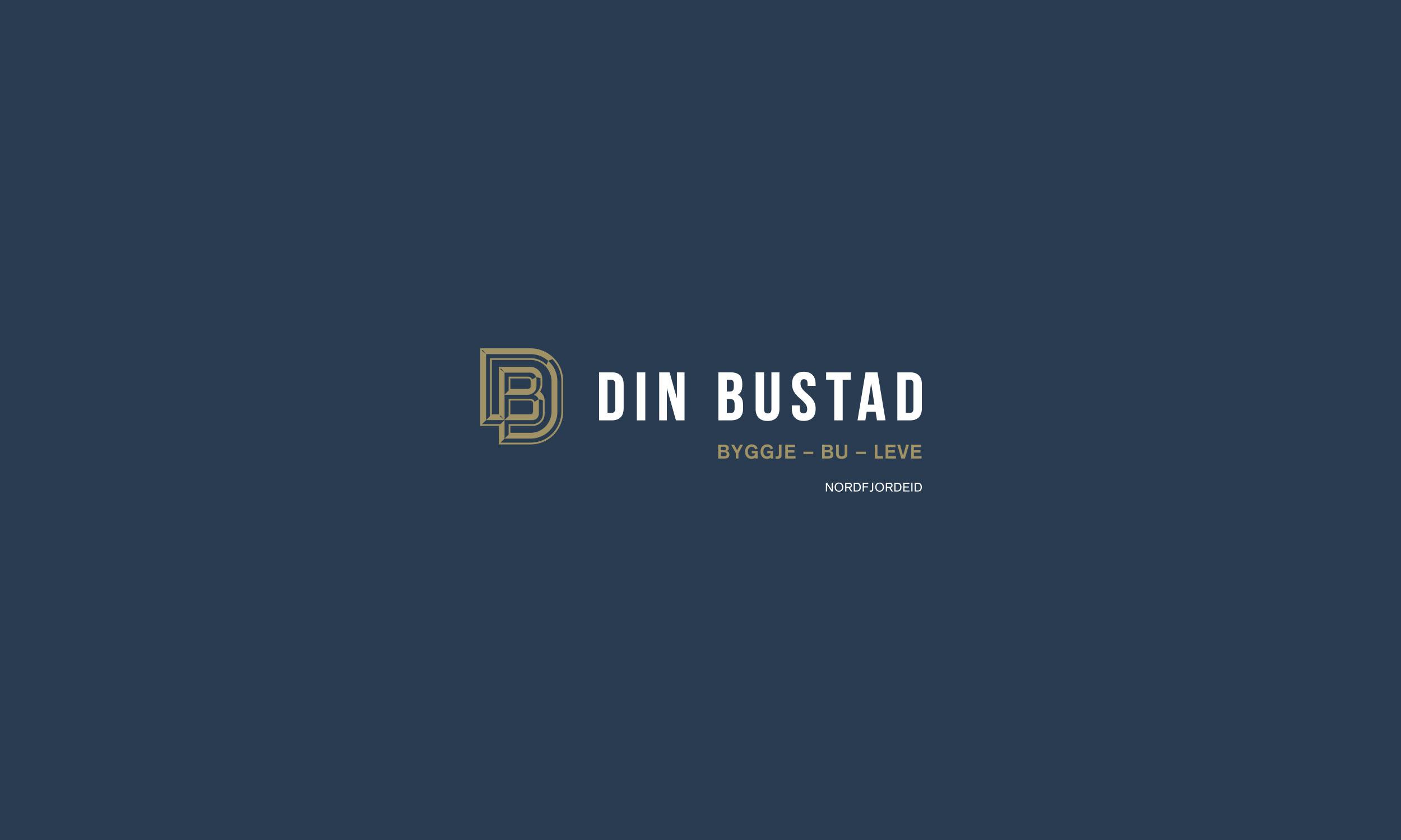 Din Bustad horizontal light logo