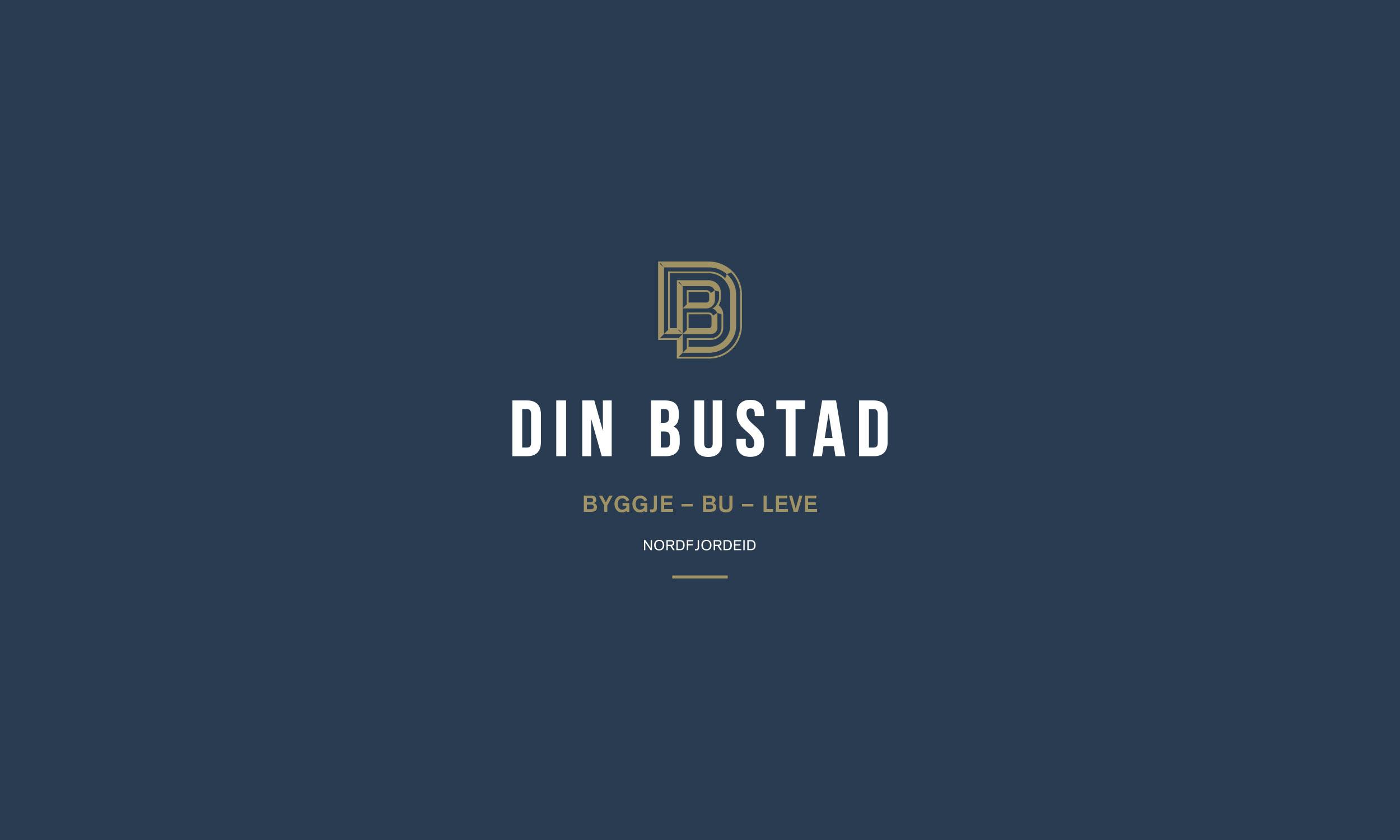 Din Bustad vertical light logo