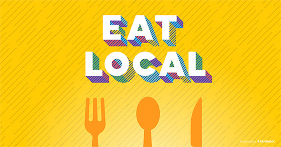Eat local small business marketing materials, powered by Fanbank