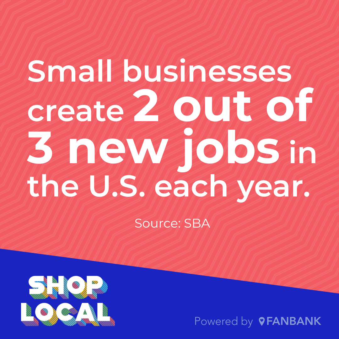 Small business statistic - Small businesses create 2 out of 3 new jobs in the U.S. each year.