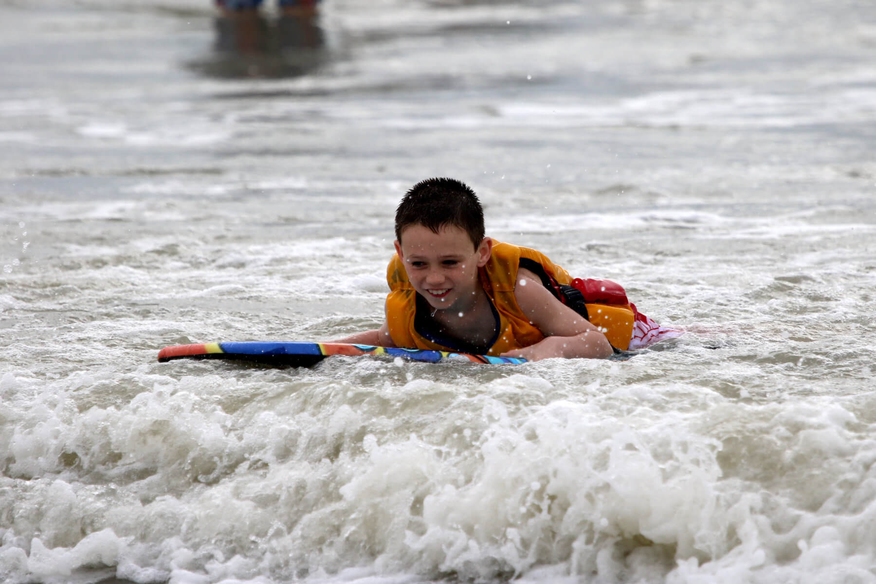 Heal Autism Now Surf Camp Girl Bogey Boarding