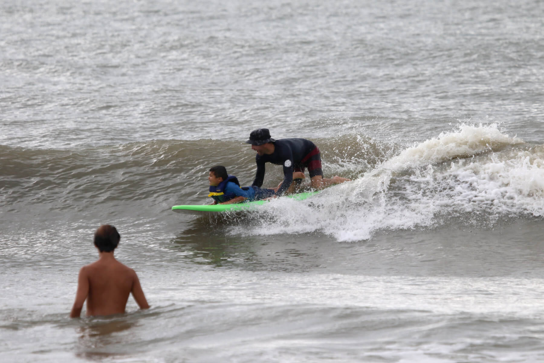 Heal Autism Now 2019 Surf Camp Green Surfboard Wave