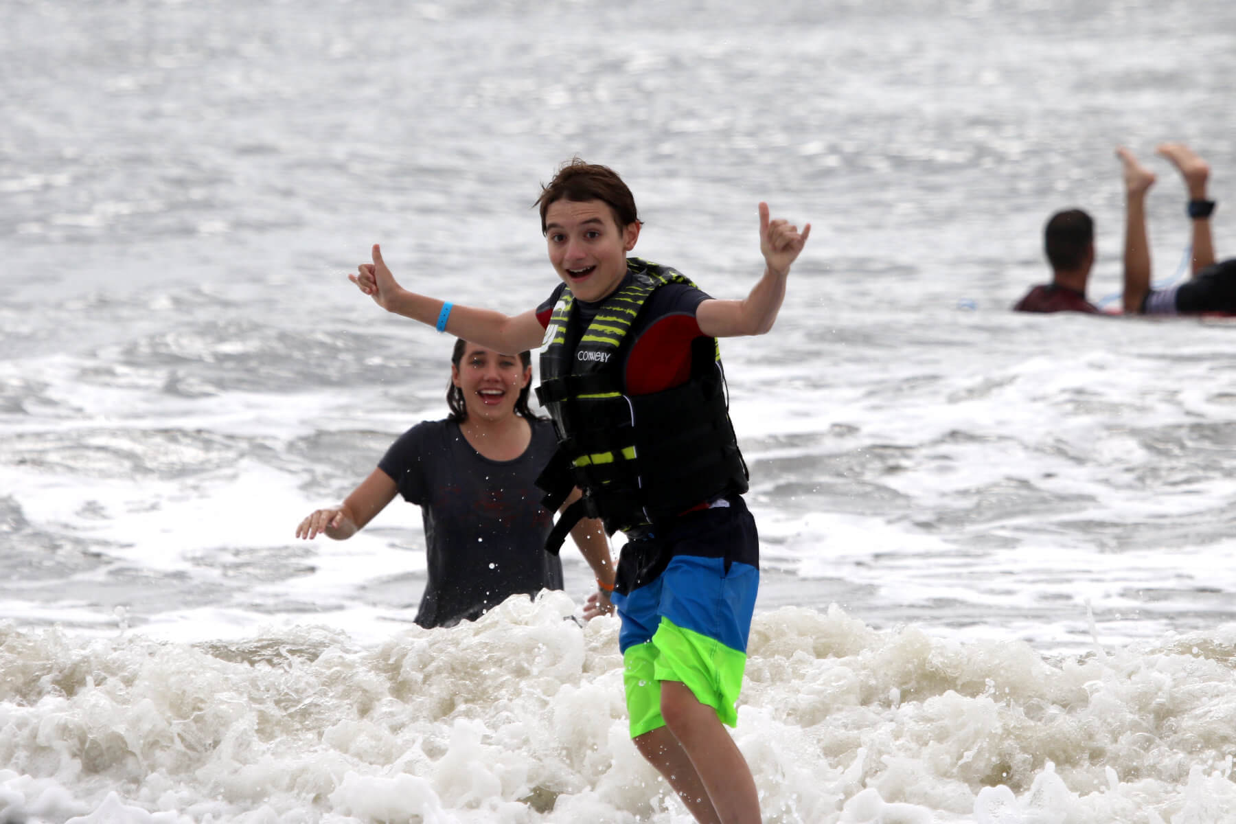 Heal Autism Now 2019 Surf Camp Surfing Thumbs Up
