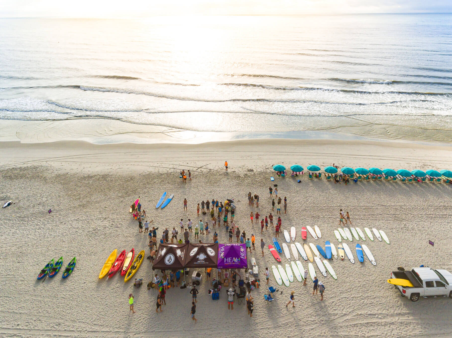 Heal Autism Now 2019 Surf Camp Aerial