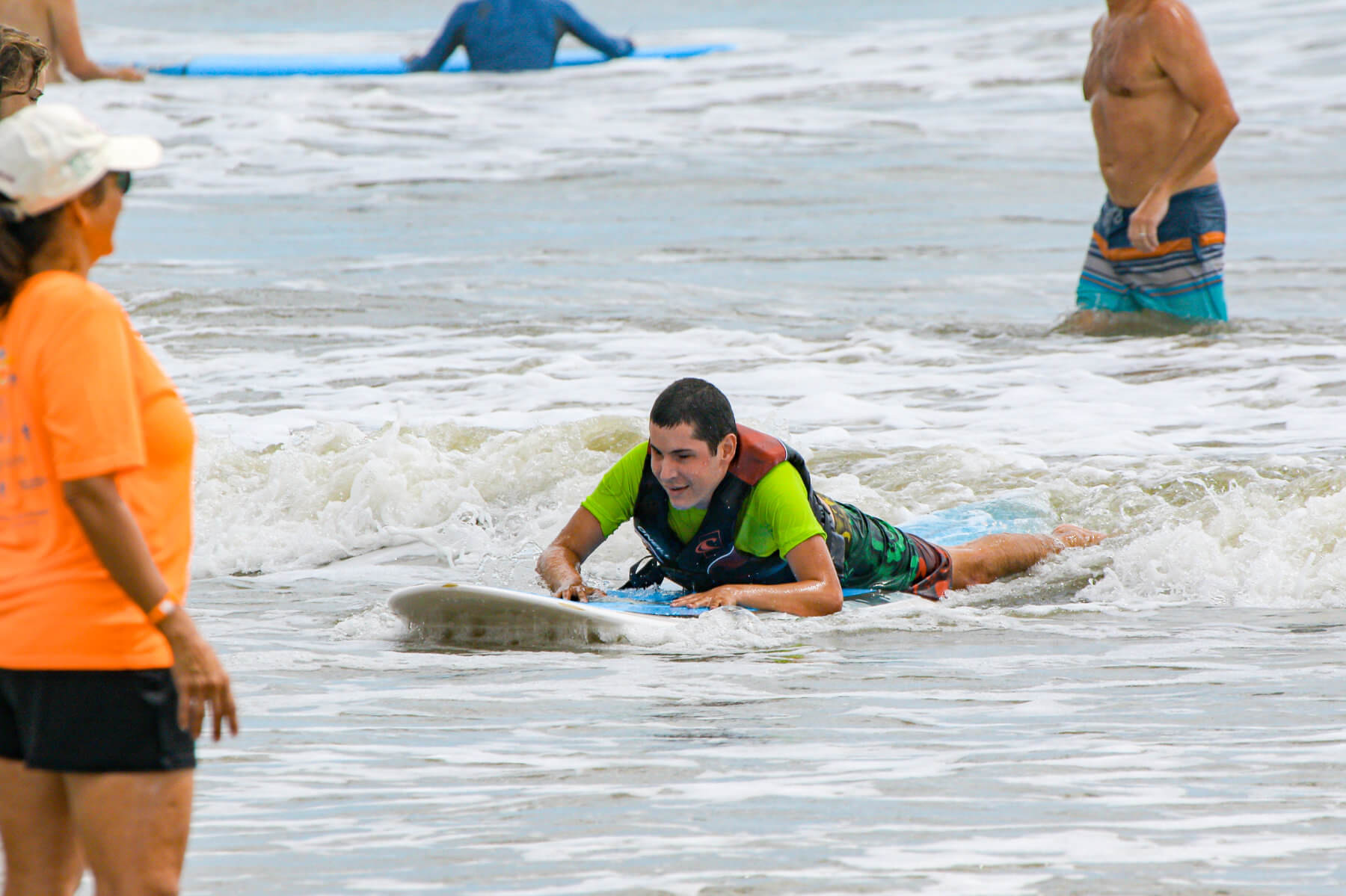 Heal Autism Now 2019 Surf Camp Riding Wave