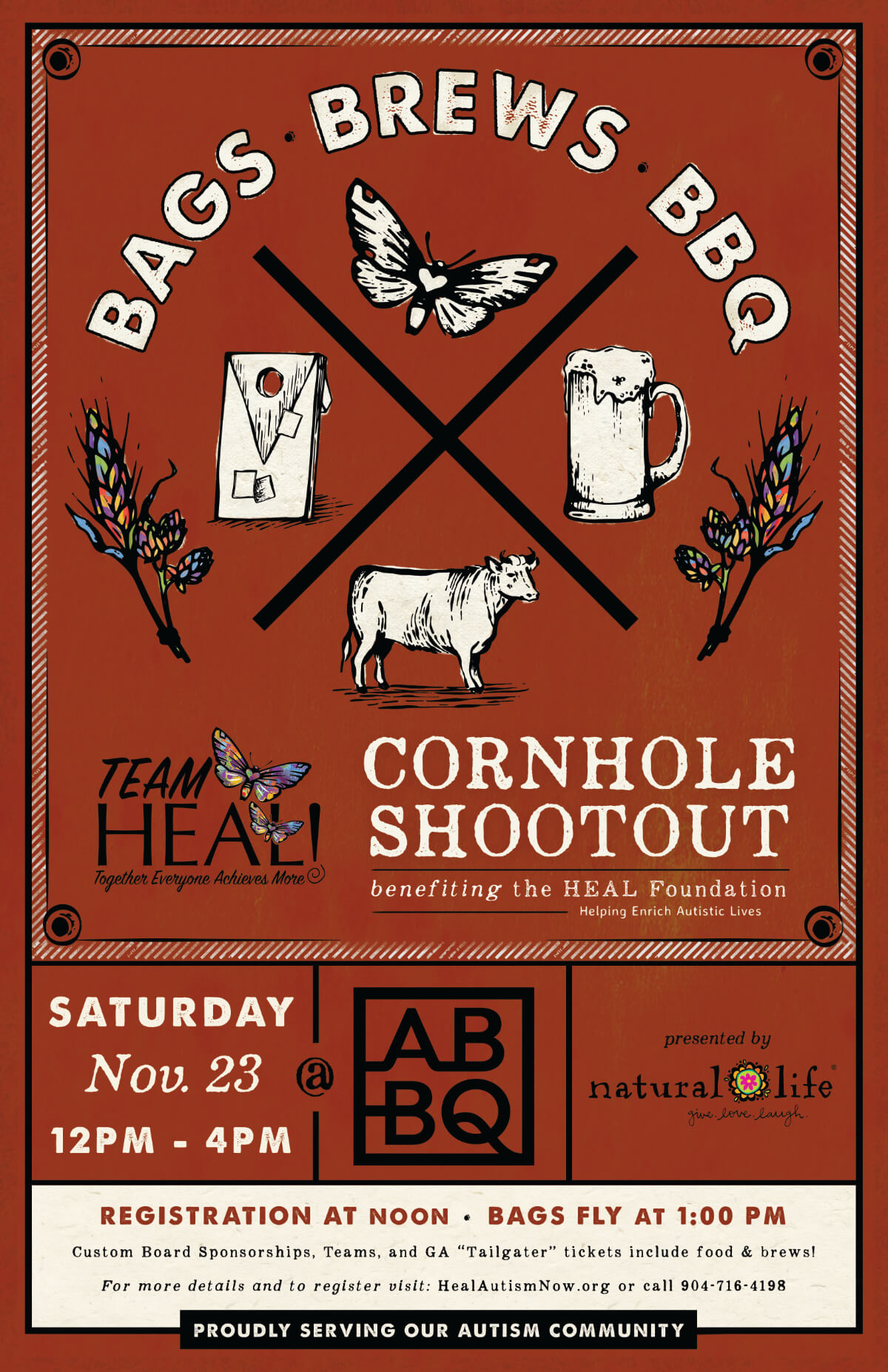TEAM HEAL Bags, Brews & BBQ Cornhole Shootout