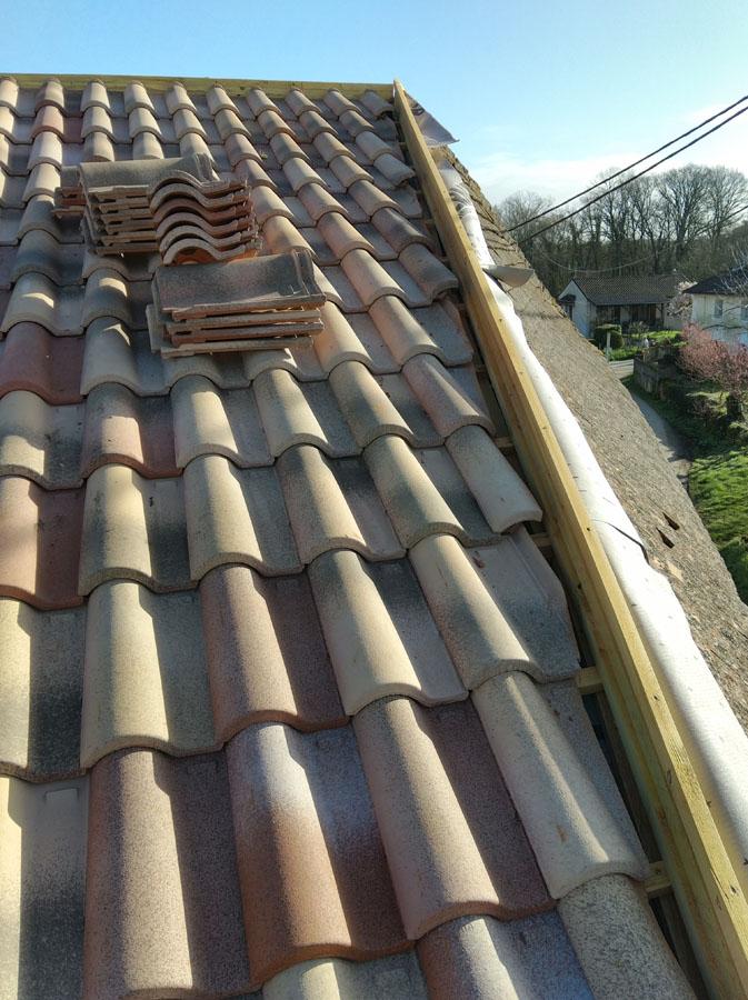 Rénovation de la toiture d'une maison