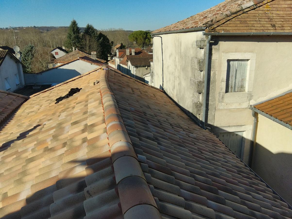 Rénovation toit d'une maison de village