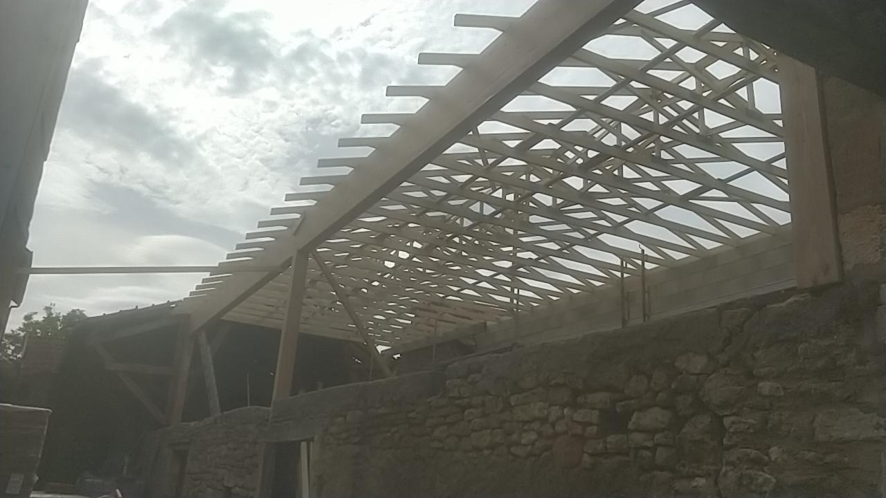 Rénovation complète Moulin d'Aubas - Maconnerie, charpente, couverture, plancher, bardage bois - 3/7