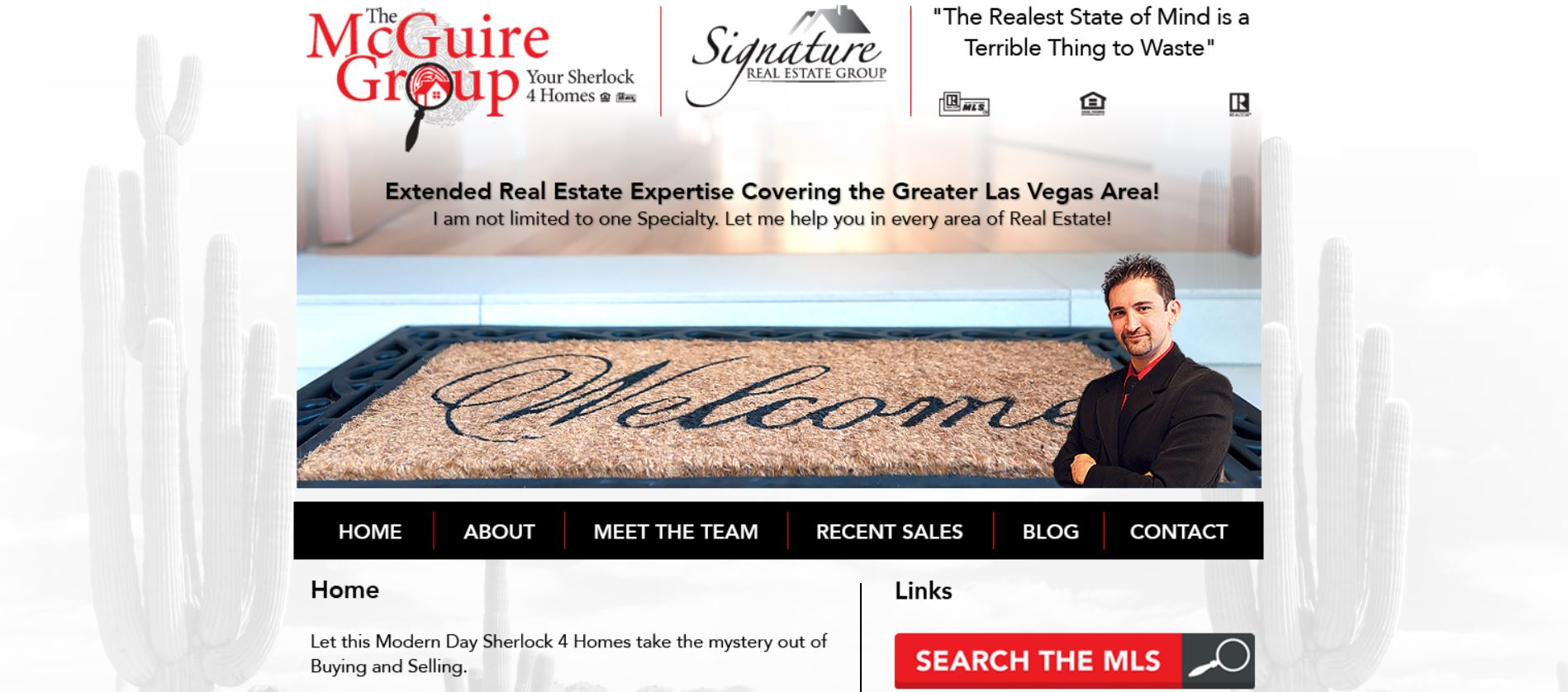 Screenshot of the old McGuire Group website