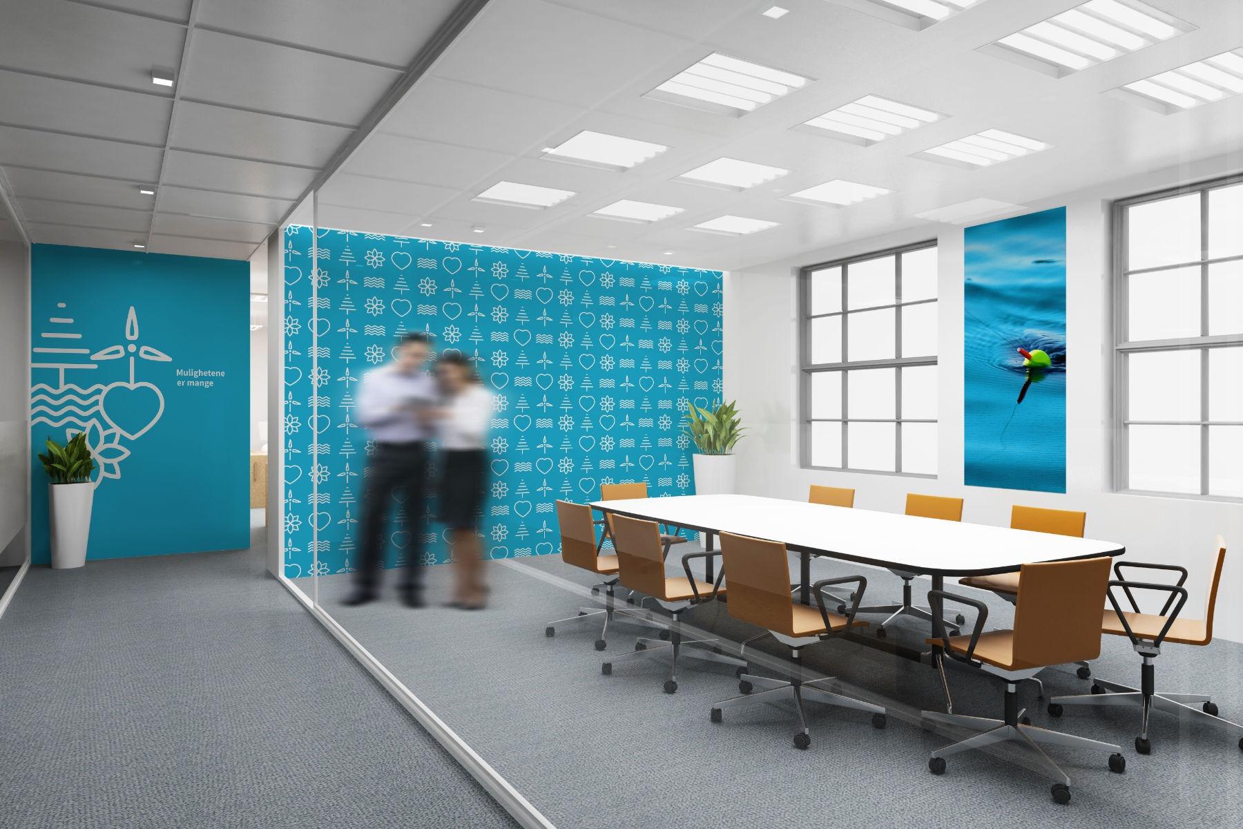 Vegg dekor møterom